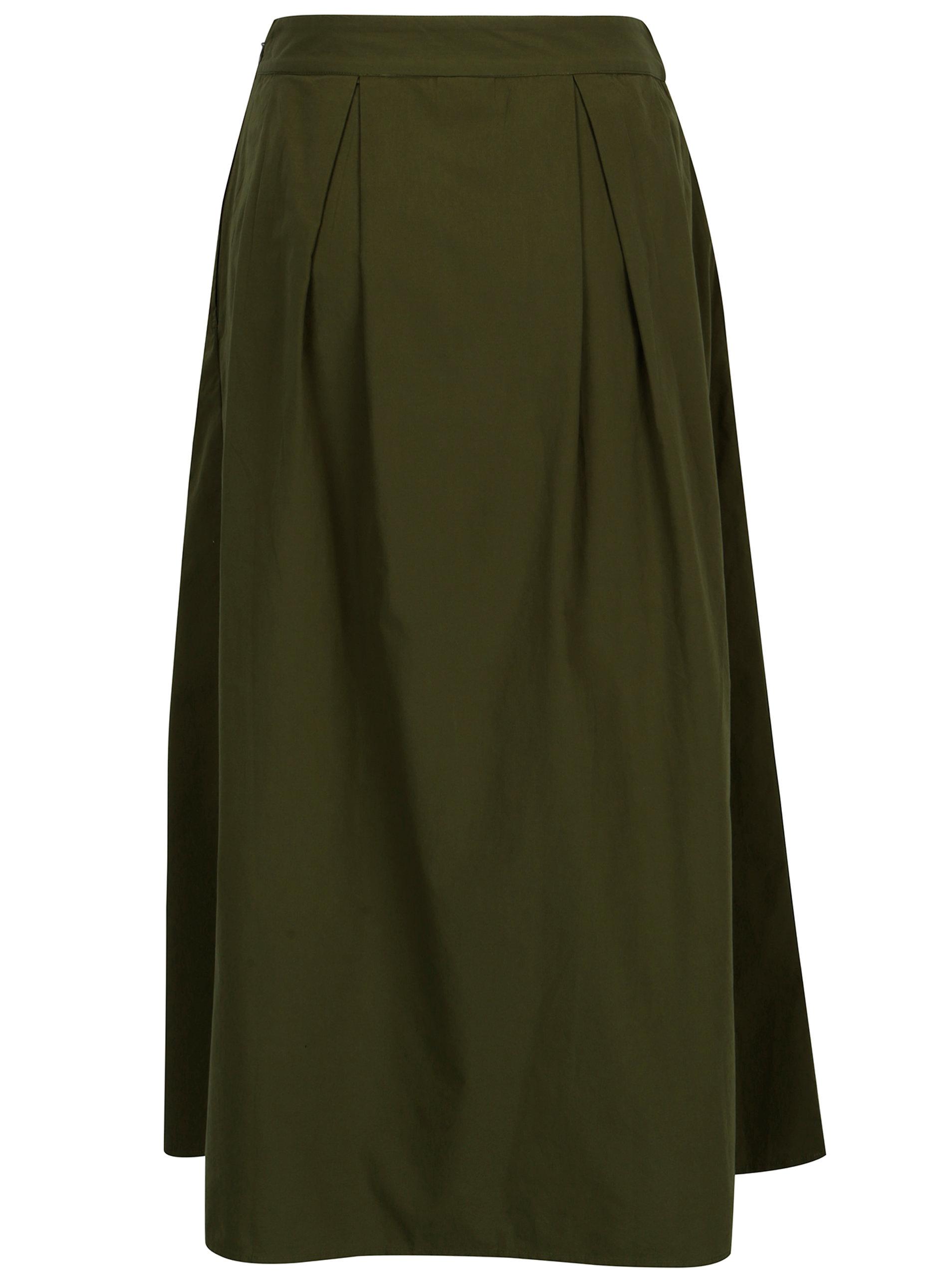3cae75ce8270 Zelená midi sukně VILA Raja ...