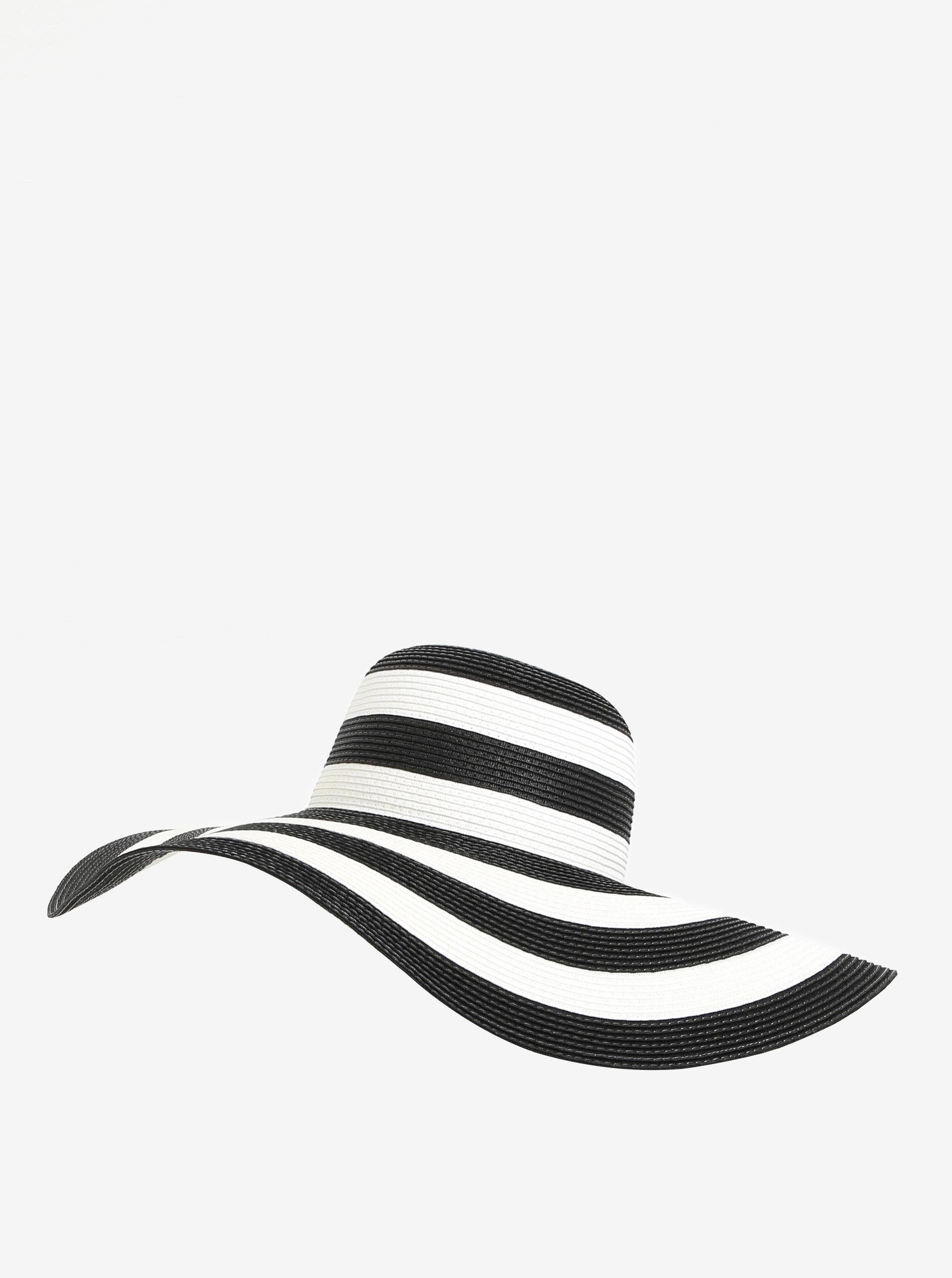 b63f5640d Čierno-biely pruhovaný klobúk VERO MODA Lisa | ZOOT.sk