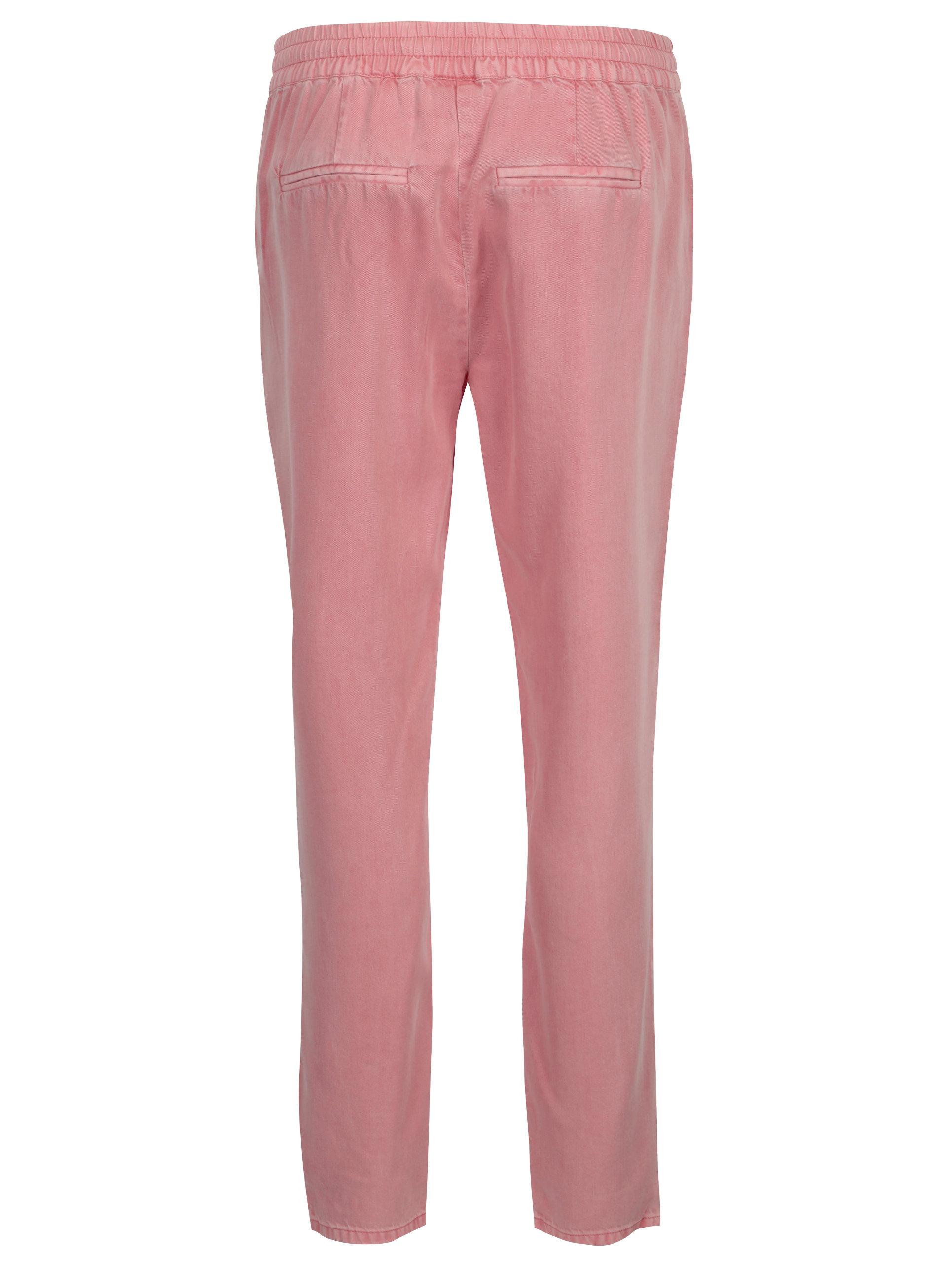 d71dd2acee2c Ružové nohavice VEOR MODA Rory ...
