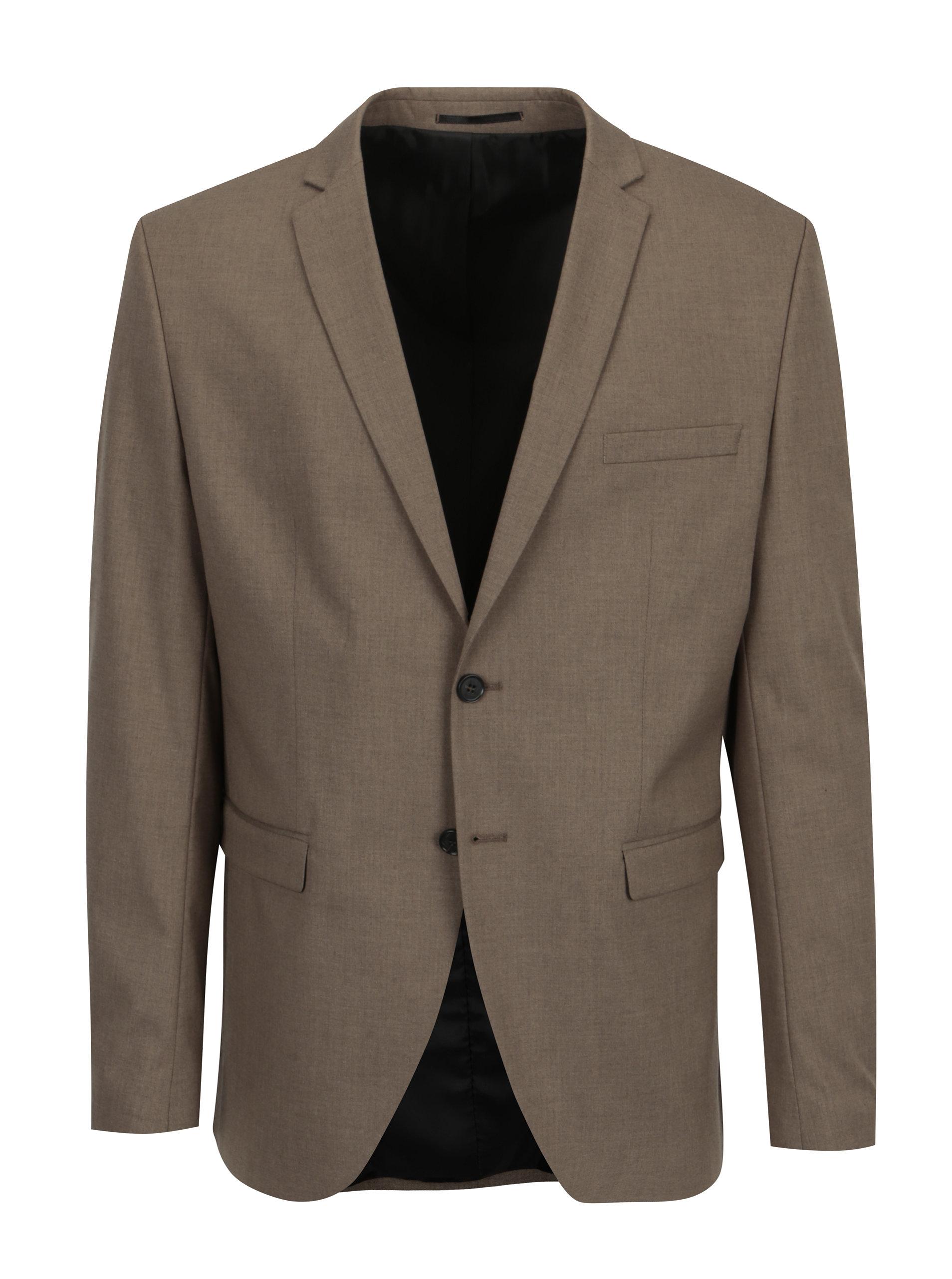 Hnědé oblekové sako Selected Homme New one