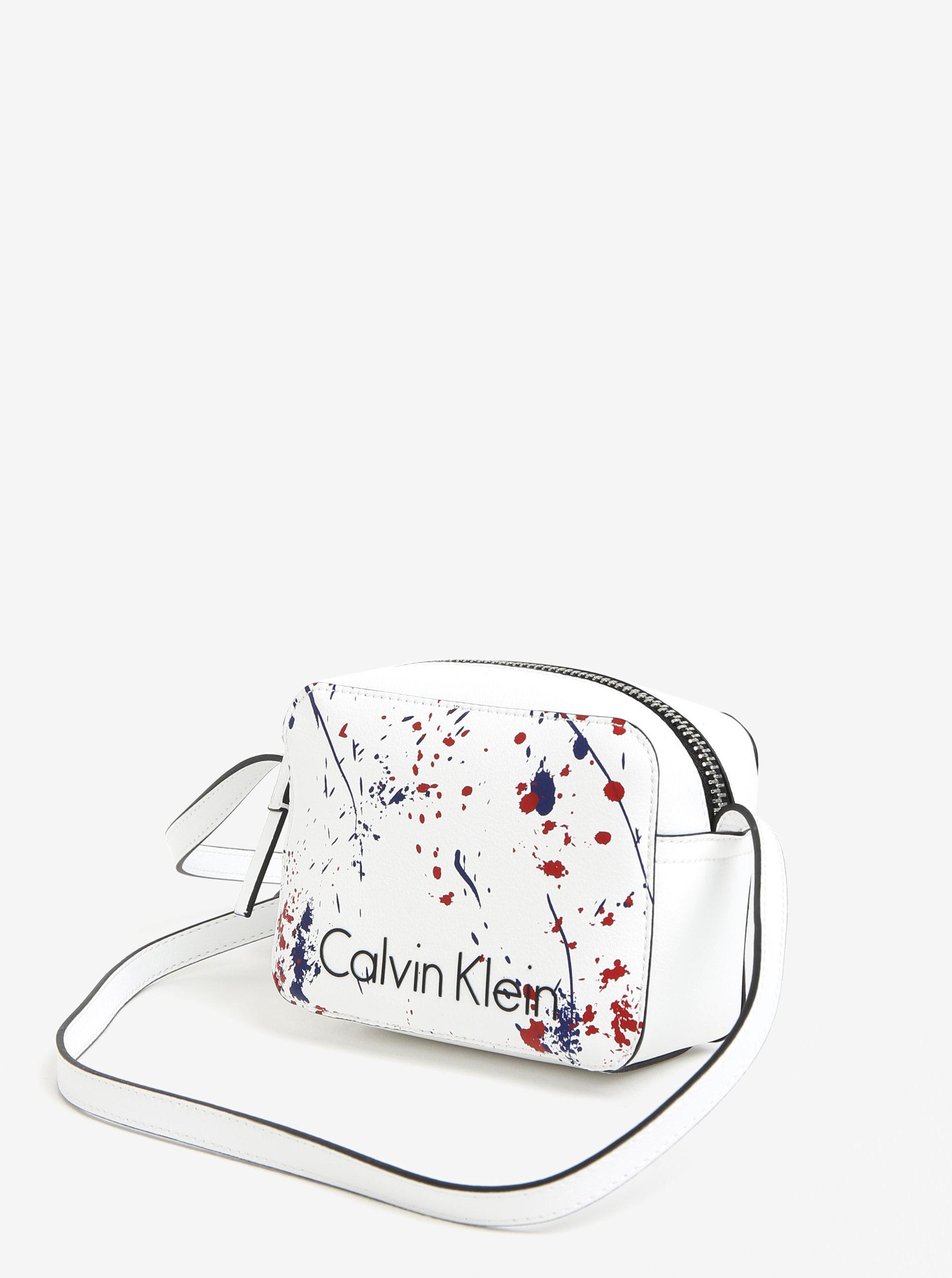 eb0d09d52b Biela malá crossbody kabelka Calvin Klein Jeans ...