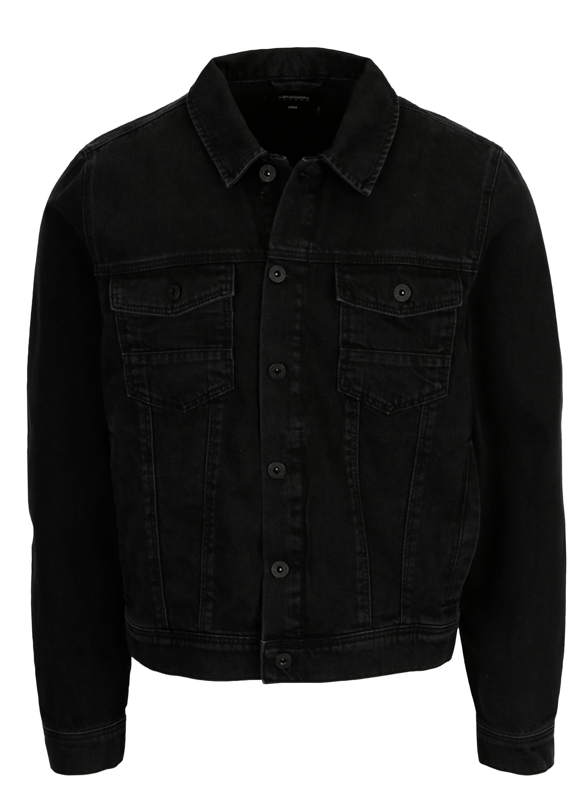 b646779adb3d Čierna rifľová bunda Burton Menswear London ...