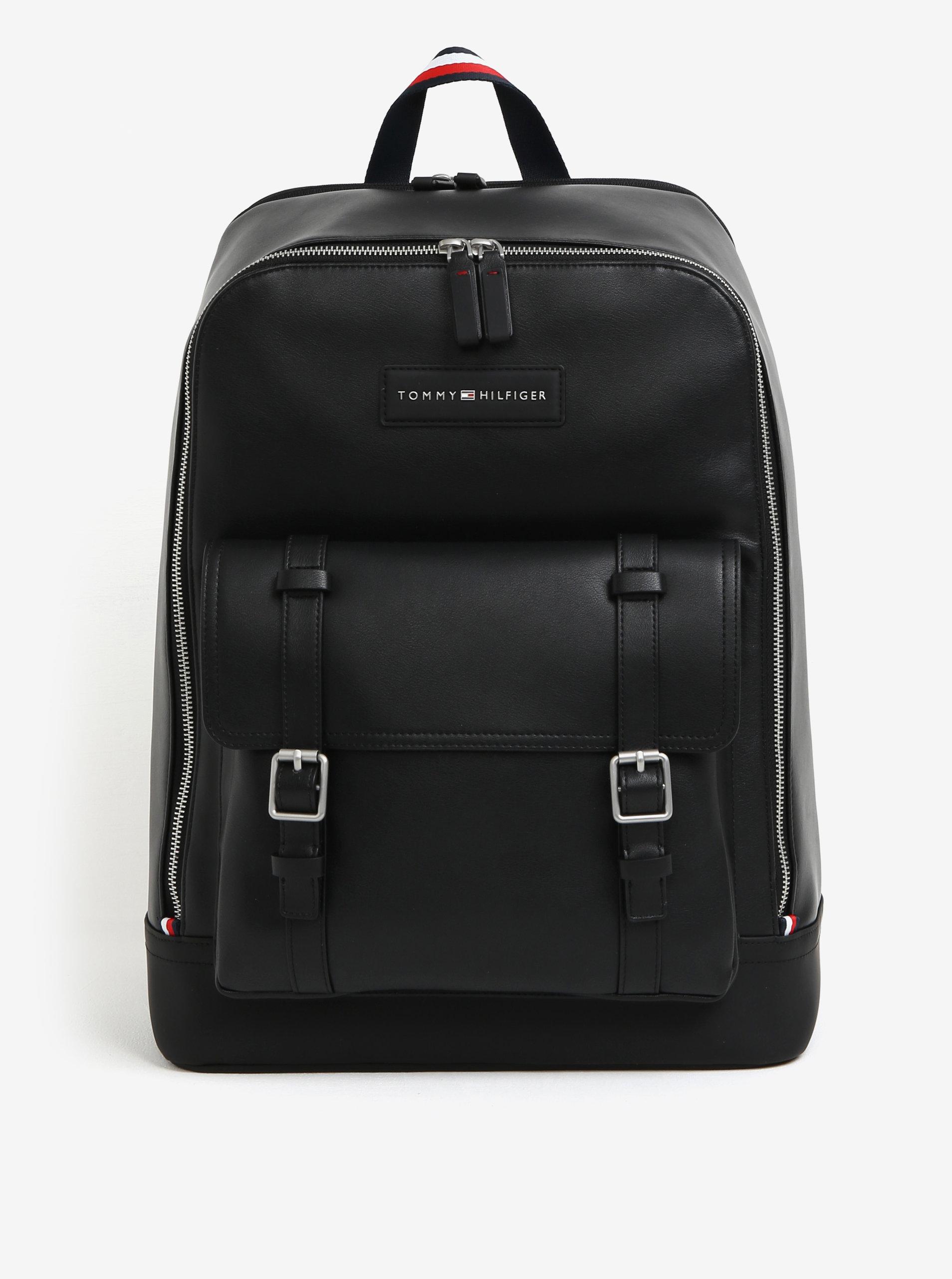 Černý pánský batoh s přezkami Tommy Hilfiger The City - SLEVA ... 9b70a0a1c4a