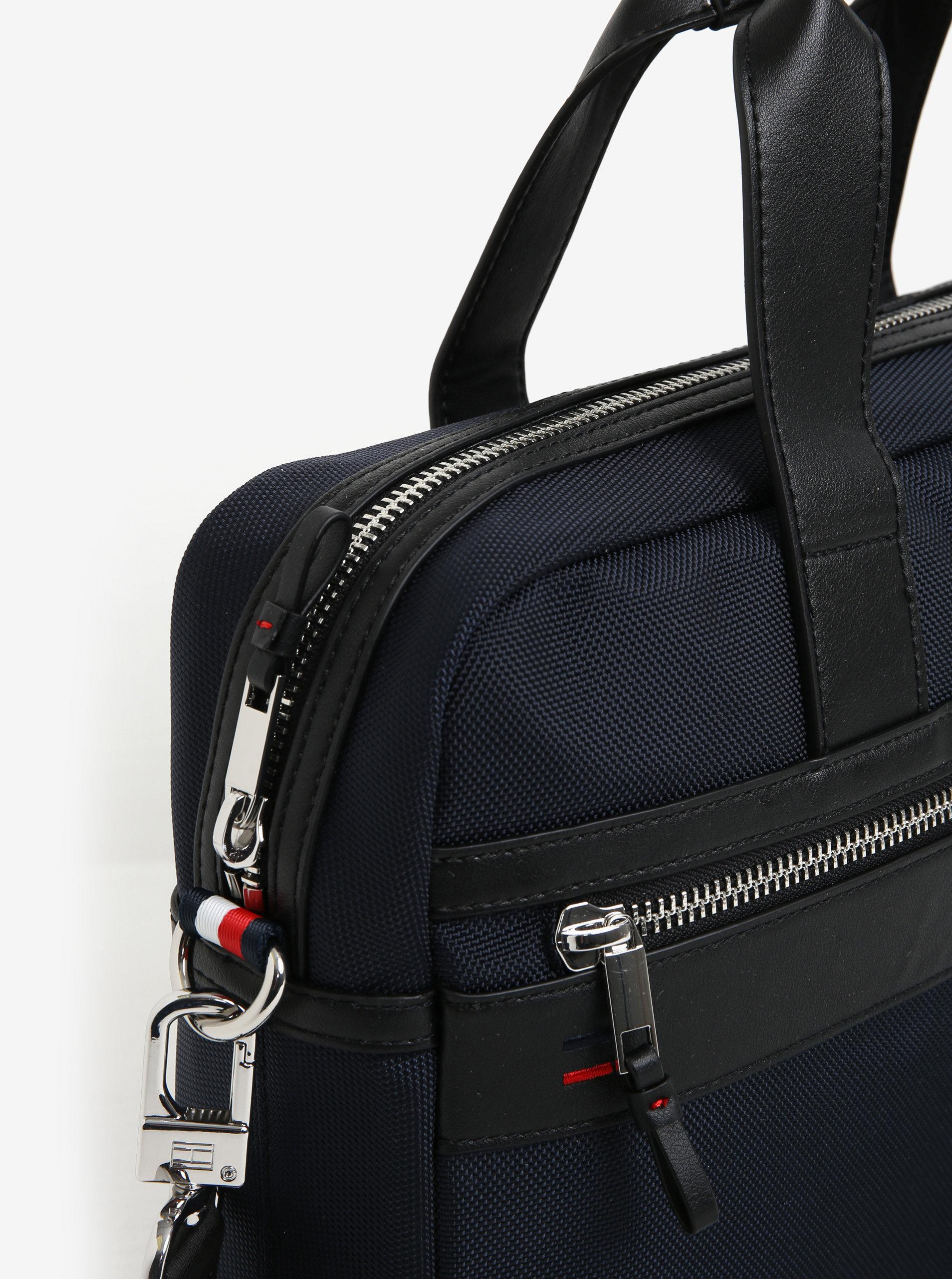 Tmavomodrá pánska taška na notebook Tommy Hilfiger Elevated ... 4bedb1dd701