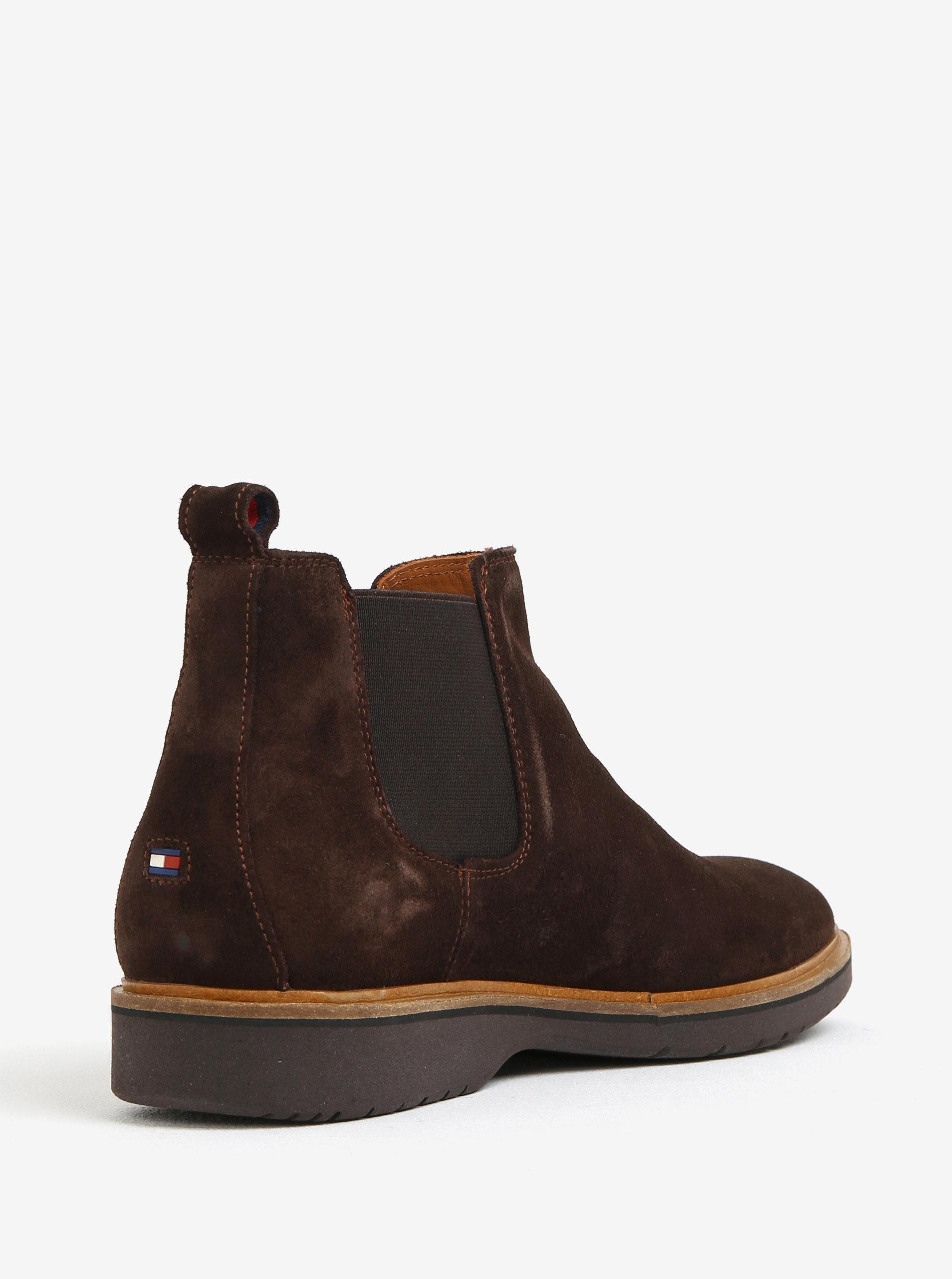 93355a6eb Tmavohnedé pánske semišové chelsea topánky Tommy Hilfiger | ZOOT.sk
