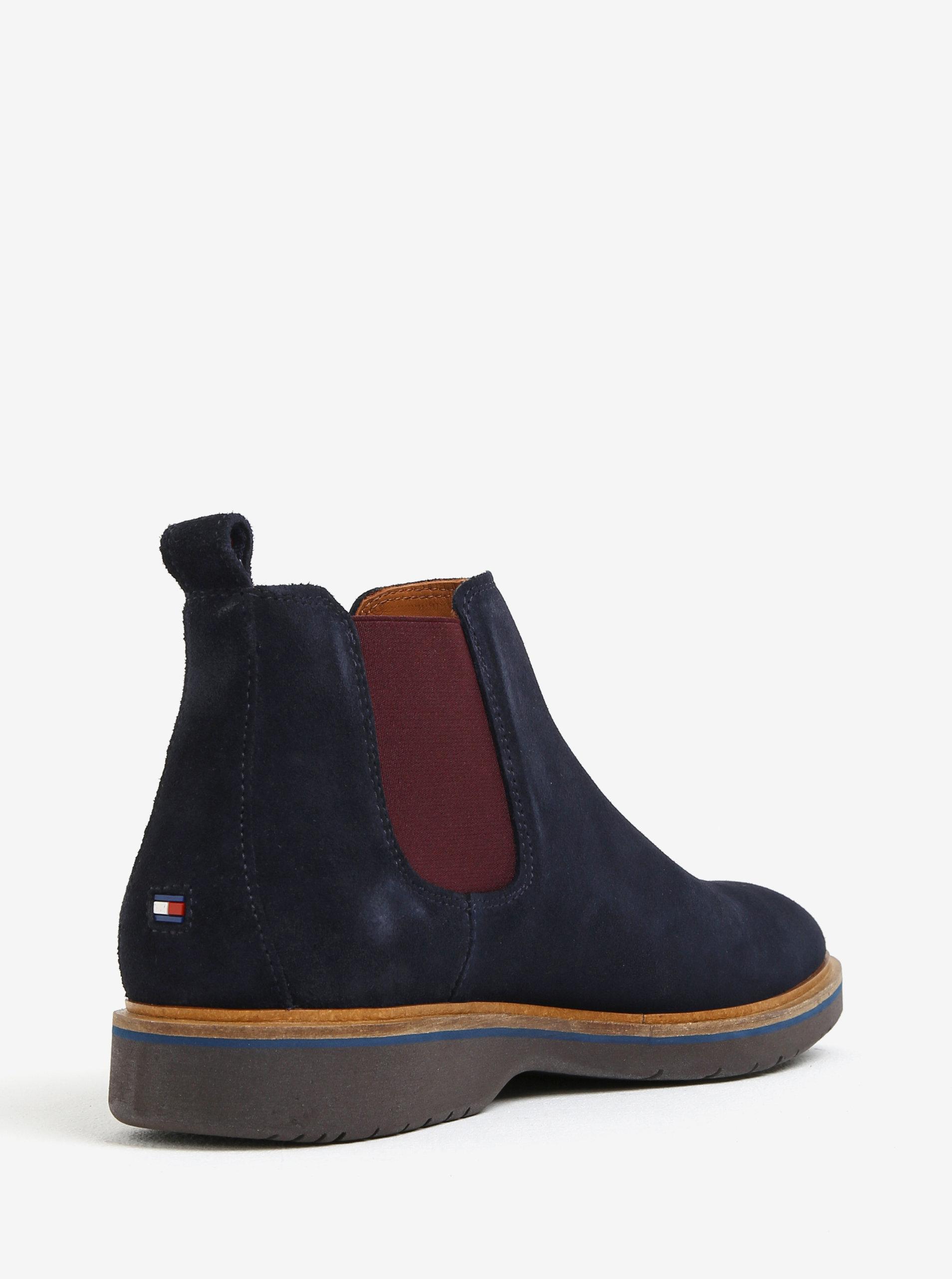 Tmavě modré pánské semišové chelsea boty Tommy Hilfiger ... 369c6222ab