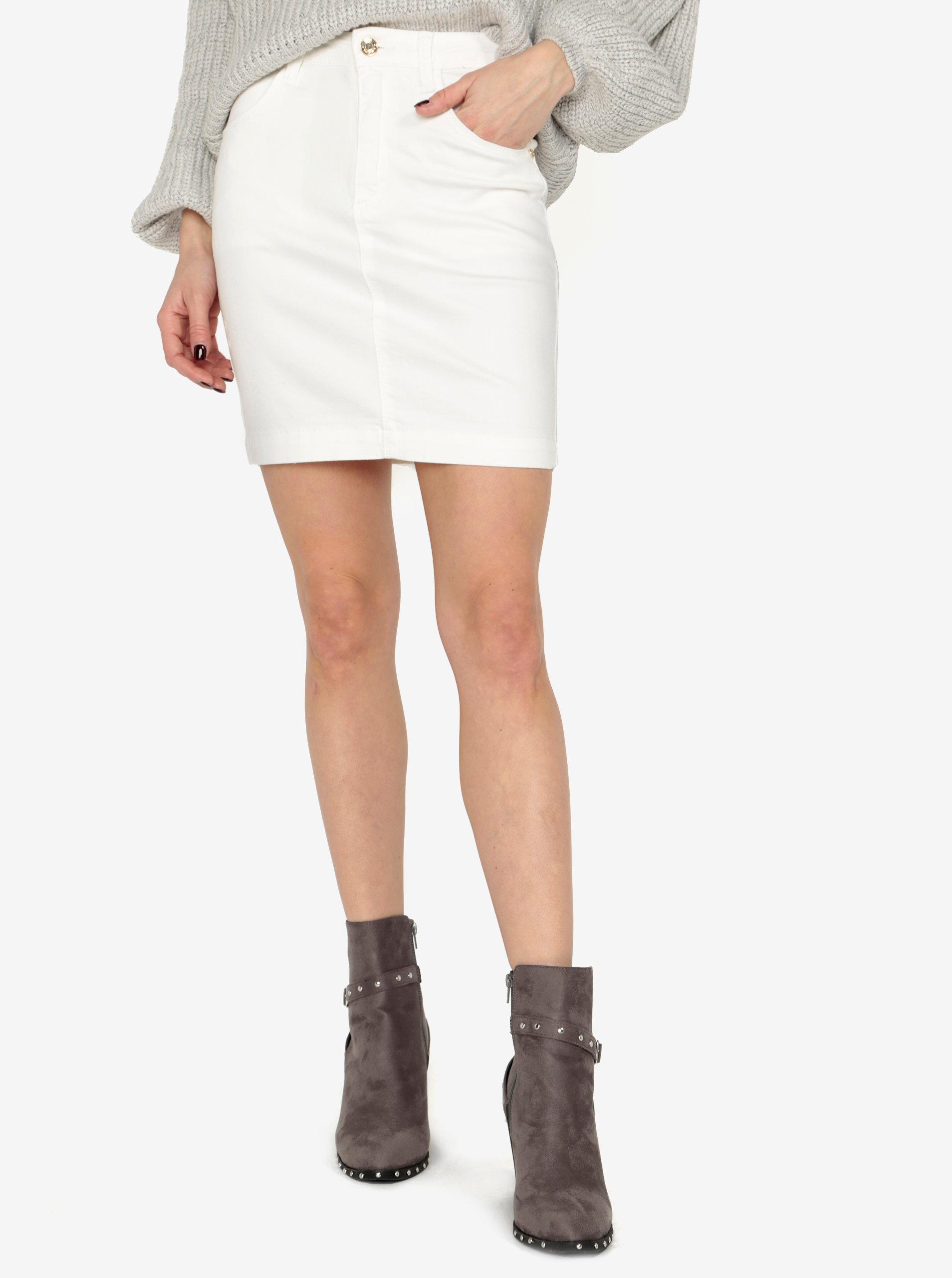 Krémová džínová sukně MISSGUIDED - SLEVA!  bd05881cad