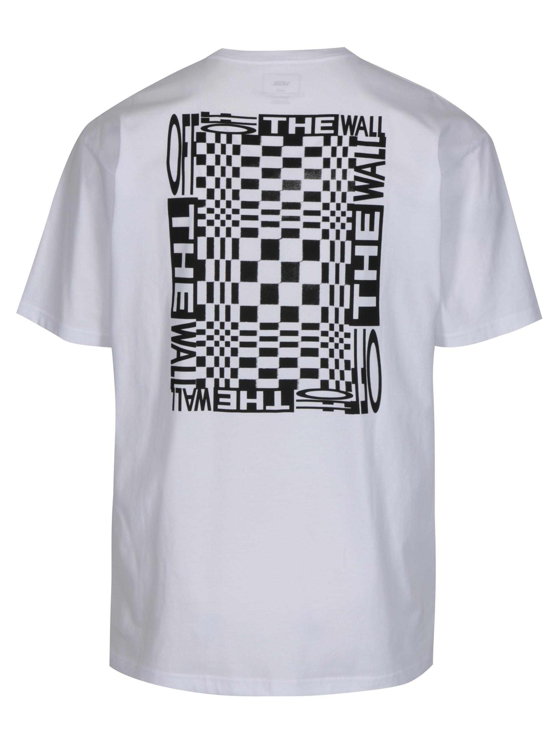 ef9e975182c Bílé pánské tričko s potiskem VANS New Checker ...