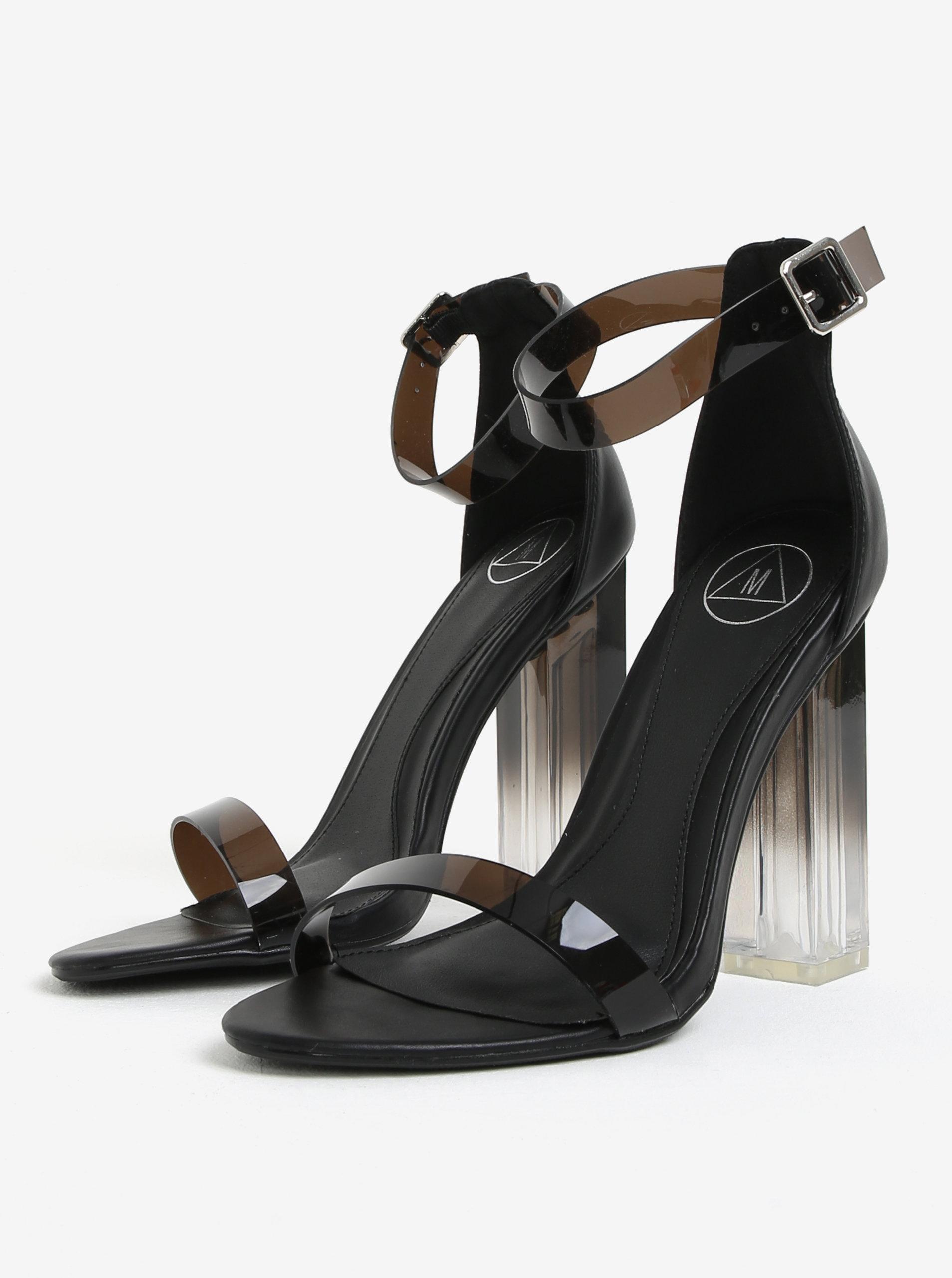 bd86d8b237696 Čierne sandále na vysokom transparentnom podpätku MISSGUIDED   ZOOT.sk