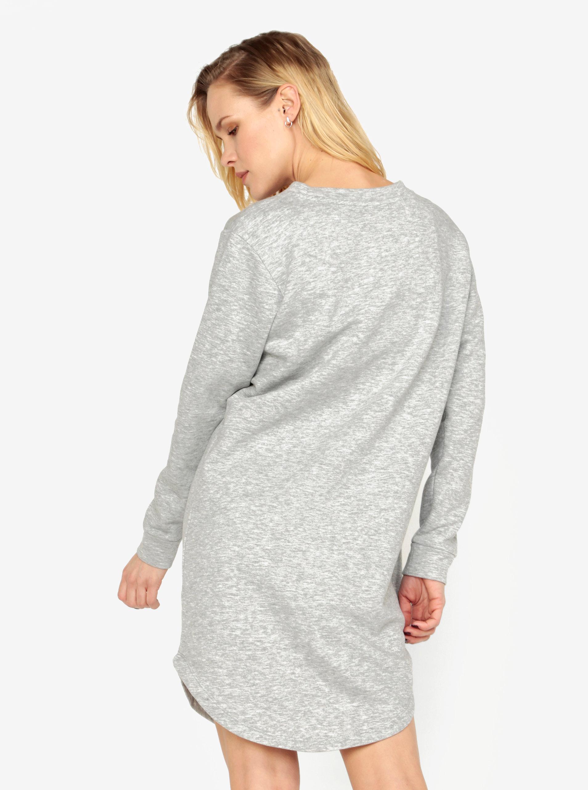 150cdac8a6bd Sivé mikinové šaty s dlhým rukávom Jacqueline de Yong Tori ...