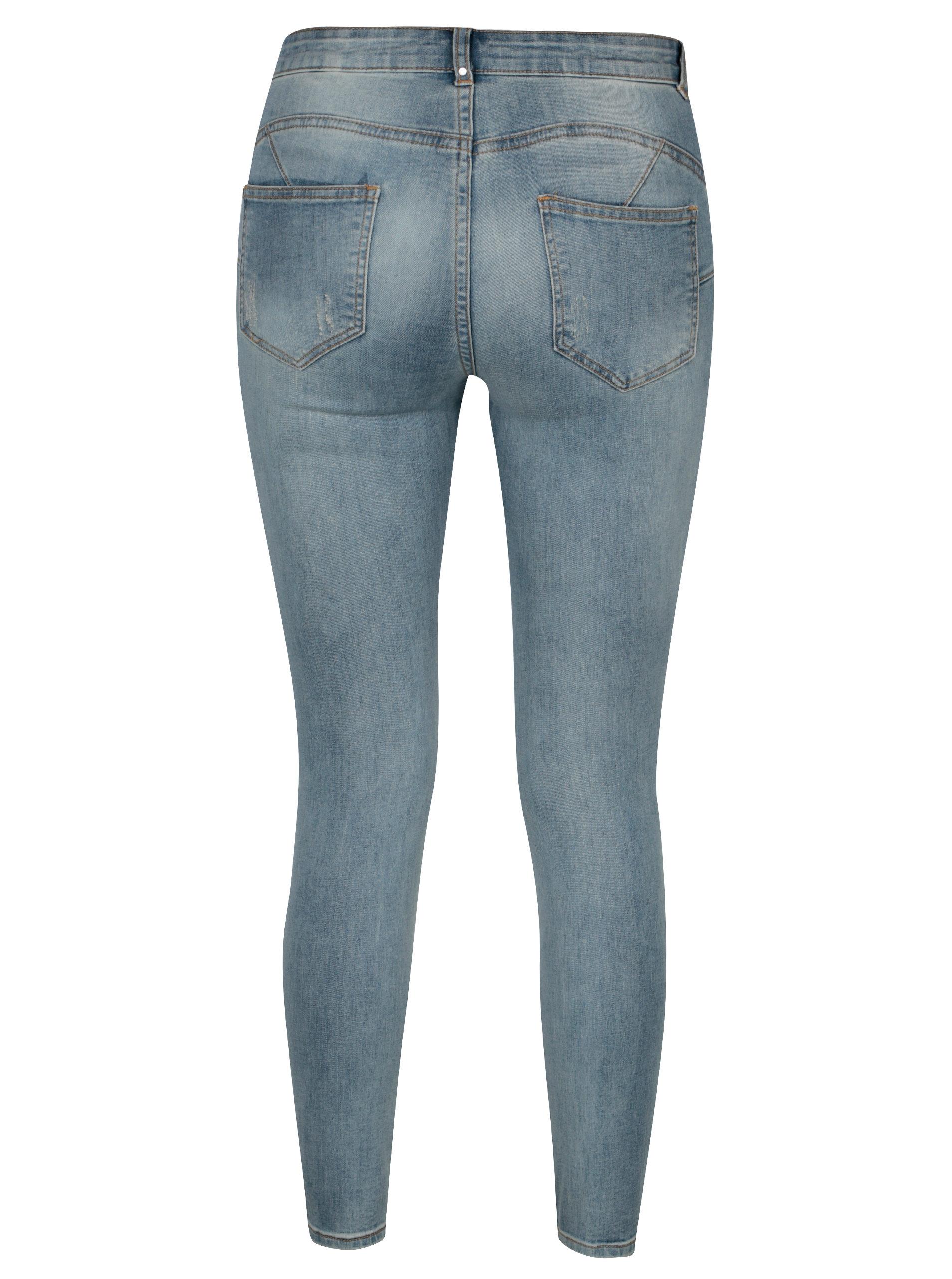 Světle modré džíny s potrhaným efektem VILA Commit - Akční cena ... 0e8e7160e5