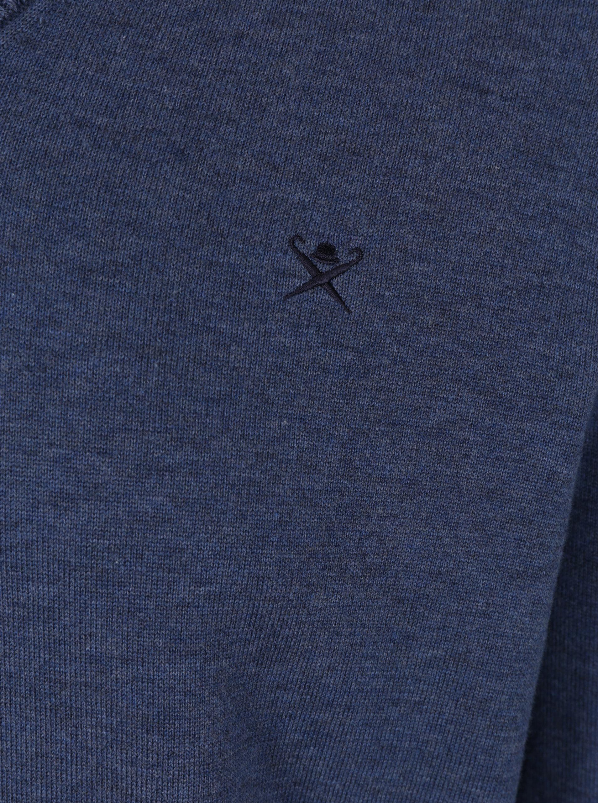 d9a56c29e8da Modrý sveter s véčkovým výstrihom Hackett London ...