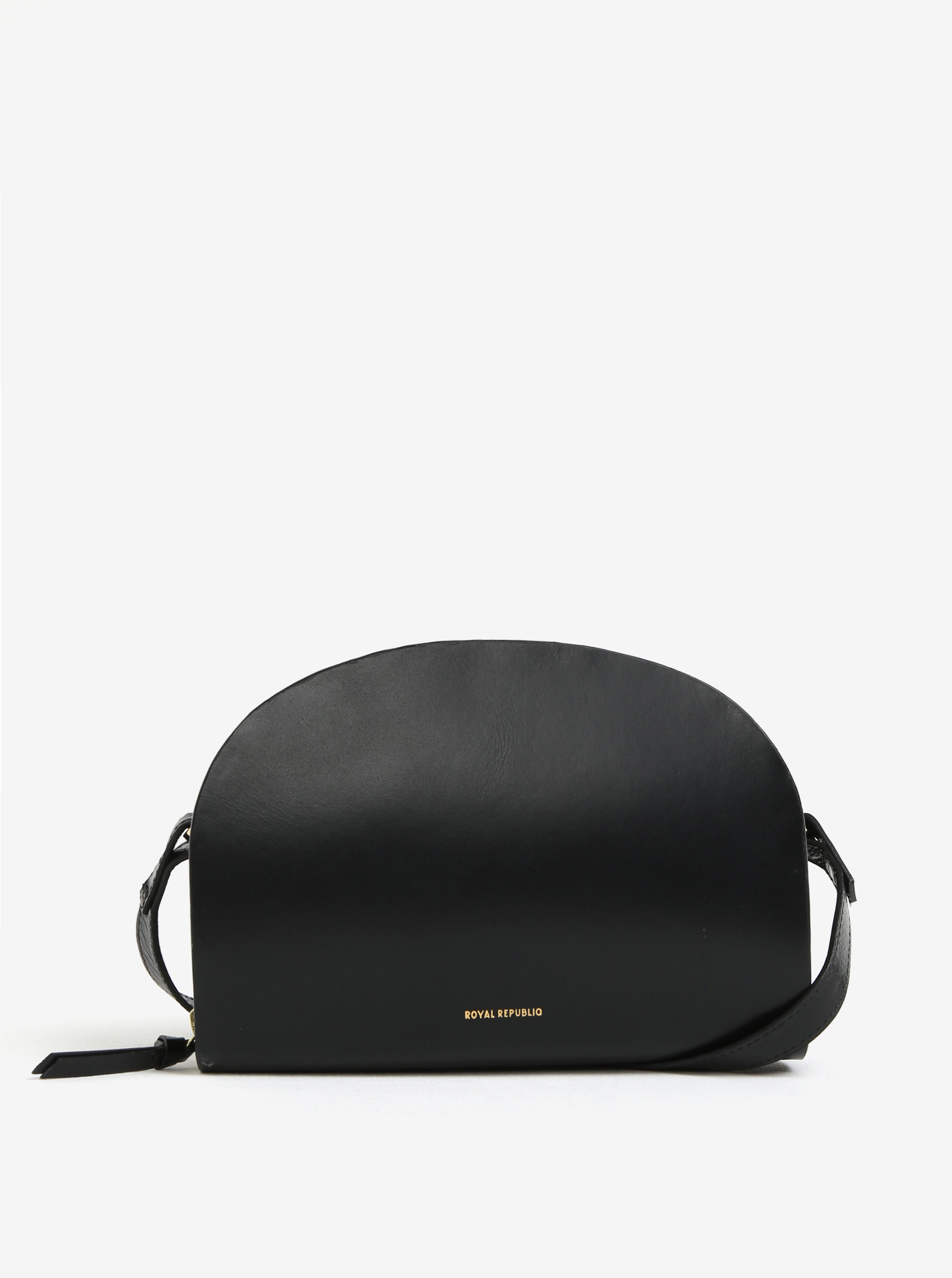 Černá kožená crossbody kabelka Royal RepubliQ Galax Curve ... ed727bca002