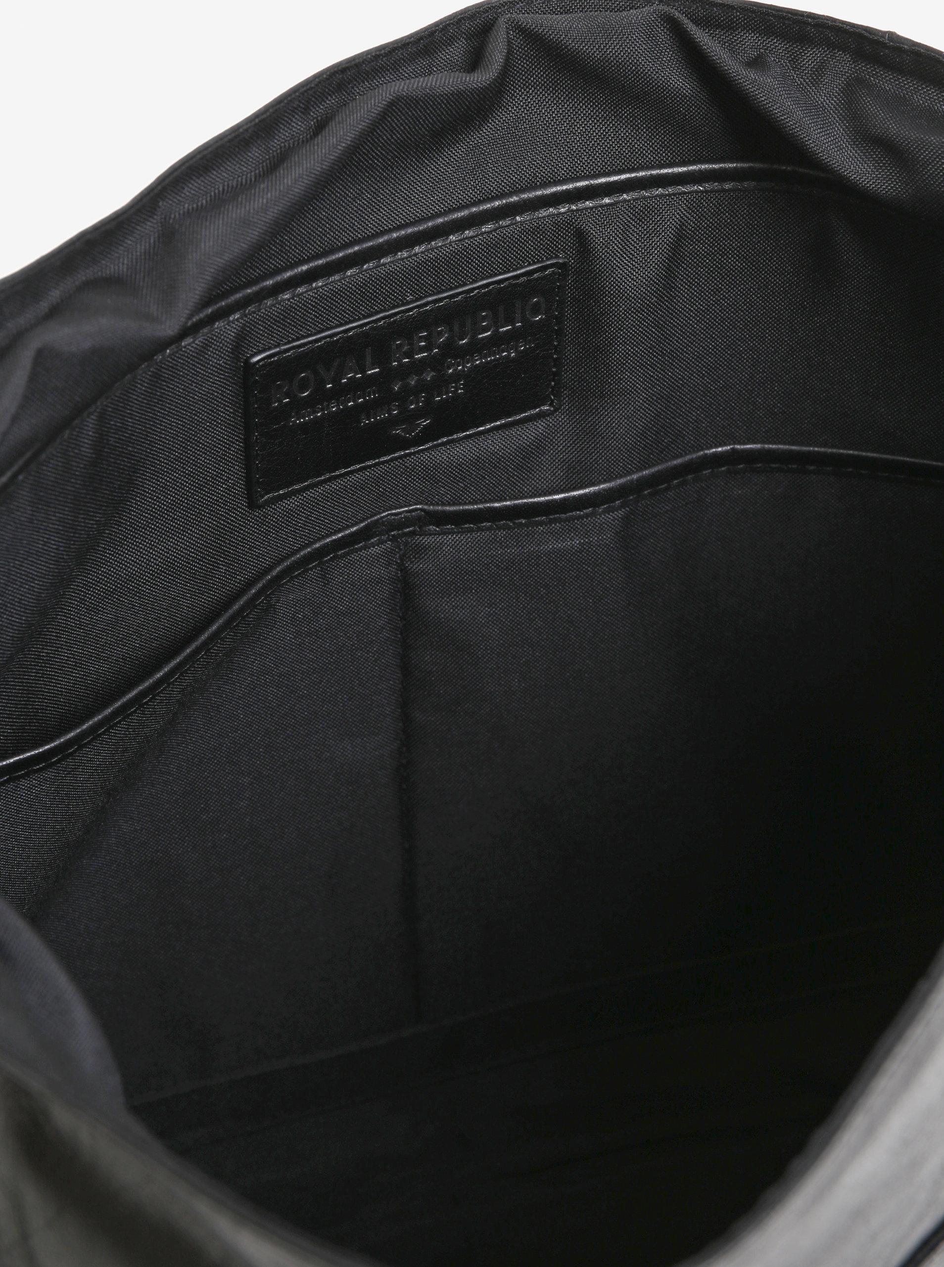 1f946ff073 Čierna pánska kožená taška na notebook Royal RepubliQ Essential ...