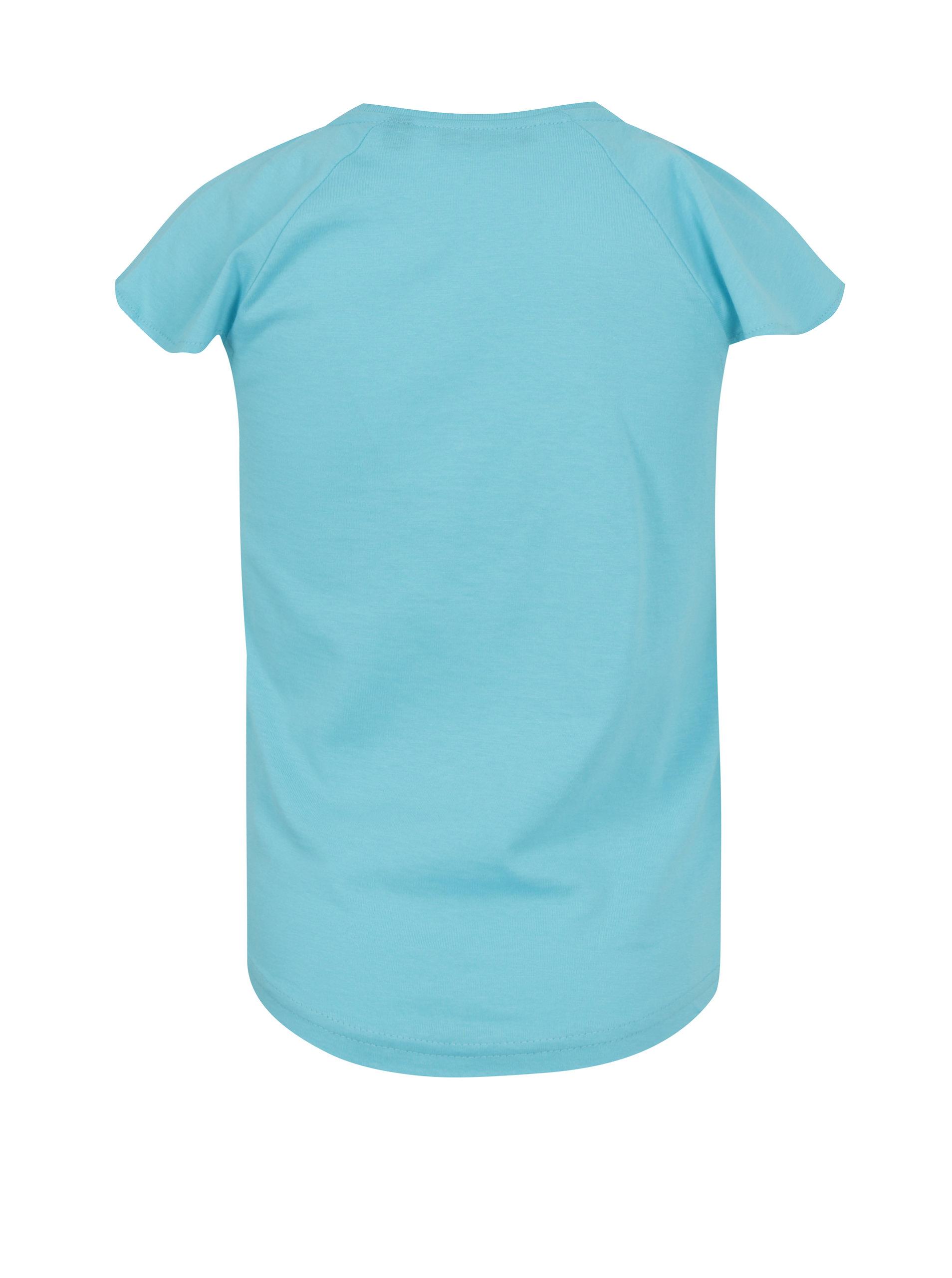 Světle modré holčičí tričko s potiskem jednorožce Blue Seven ... 1be83ec07d