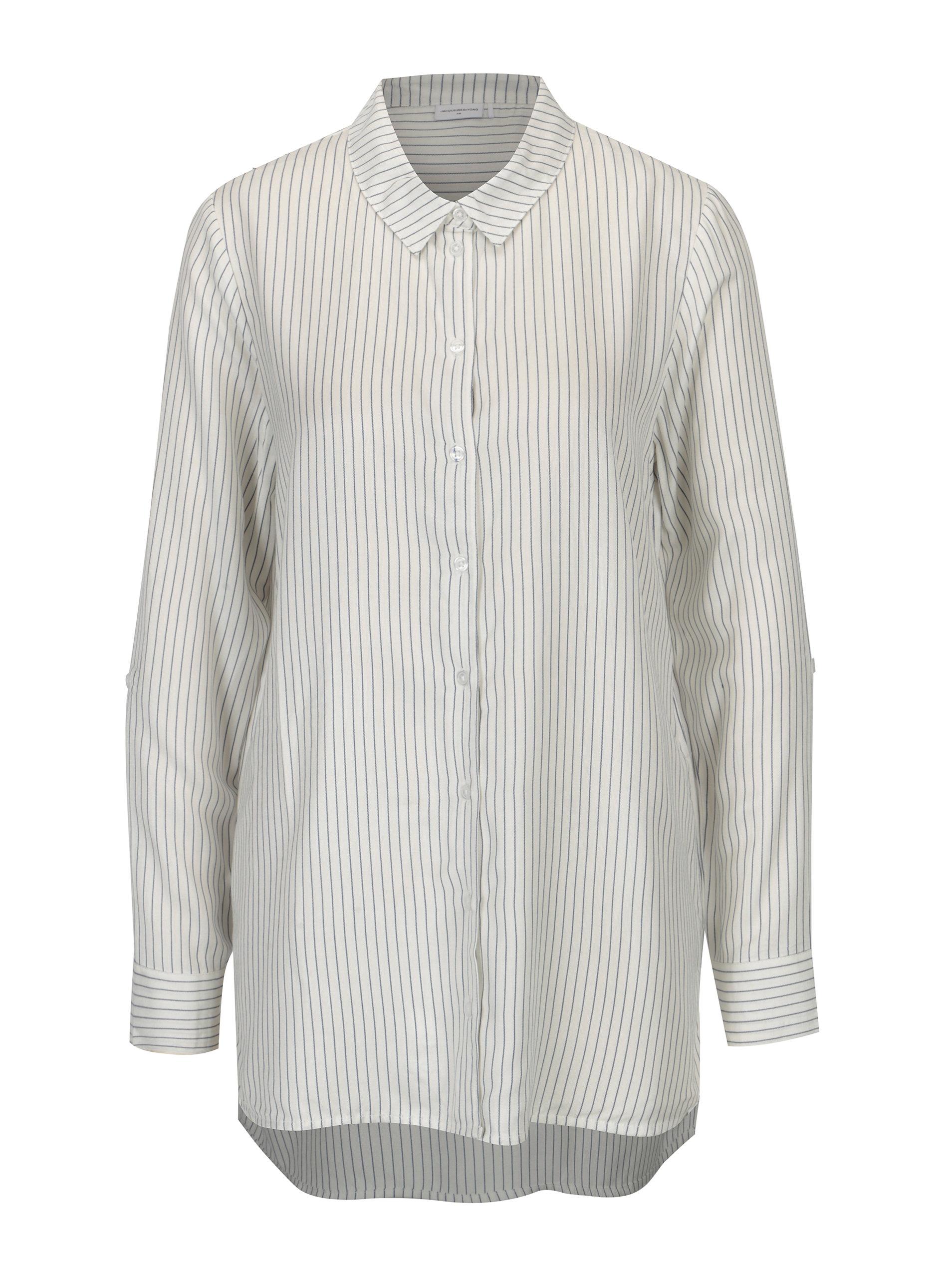 0d67fba4318 Krémová pruhovaná dlouhá košile Jacqueline de Yong Togo ...