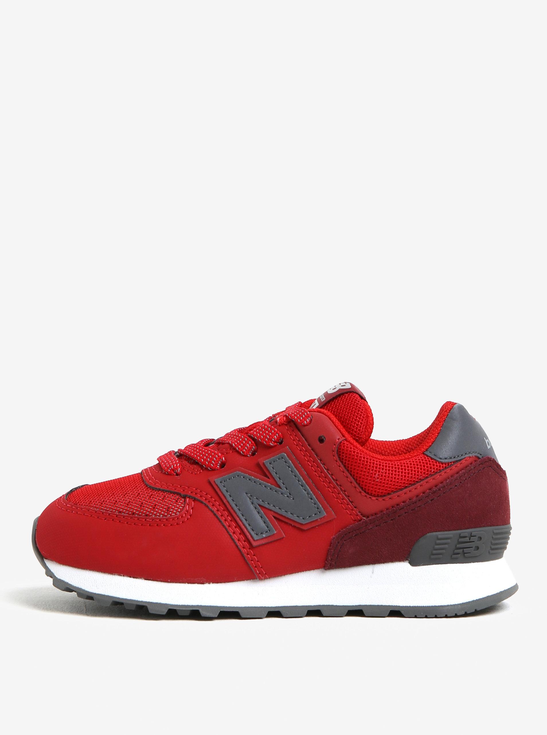 Červené dětské tenisky New Balance ... 327c3fbd71b