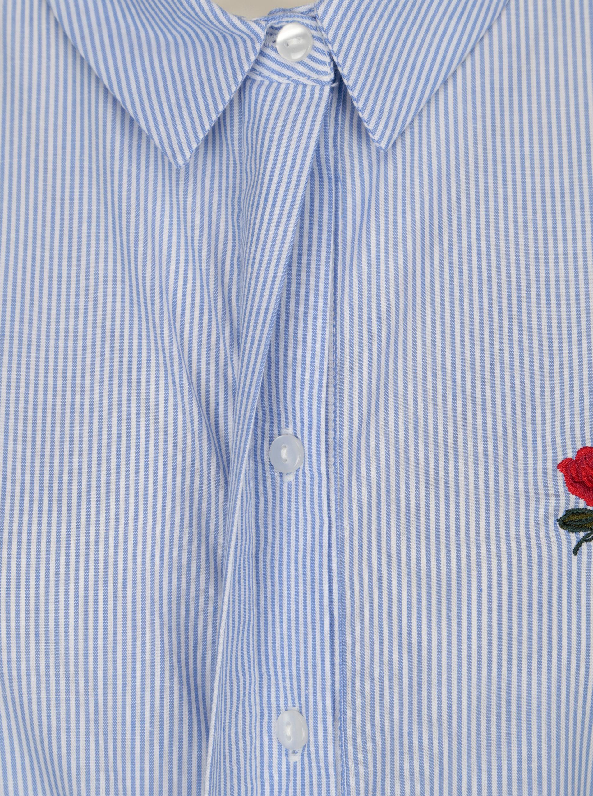 f75e18b6f74b Bielo-modrá dlhá pruhovaná košeľa VERO MODA Multi Rosa ...