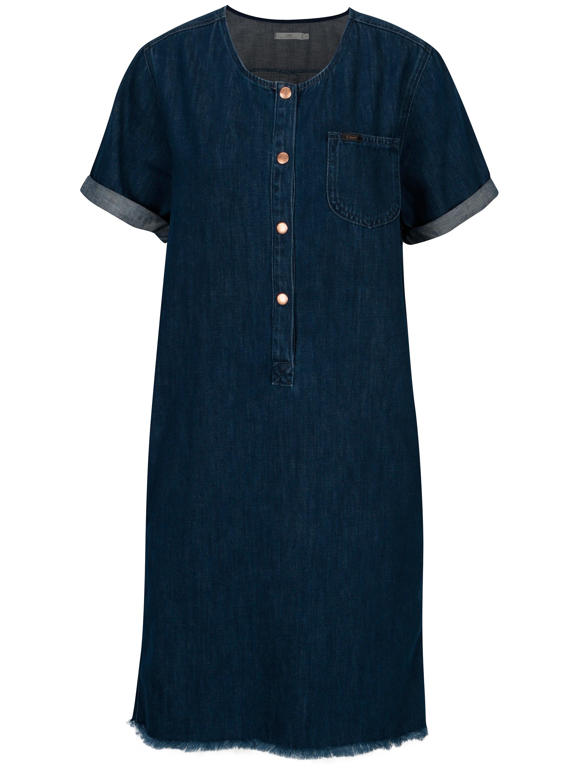 Modré džínové šaty s knoflíky Lee Seasonal ... 5465ba0b4fc