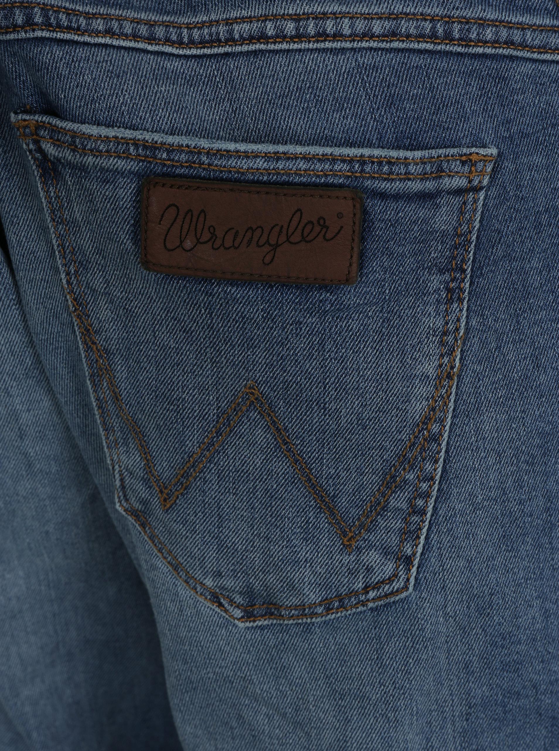 fa2cfaa6786 Modré pánské regular straight džíny Wrangler Greensboro ...