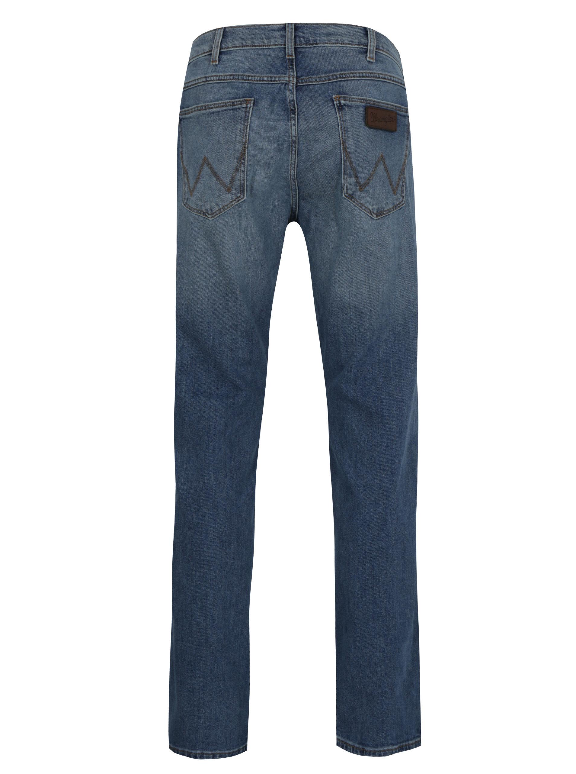 Modré pánské regular straight džíny Wrangler Greensboro ... fe644f391b