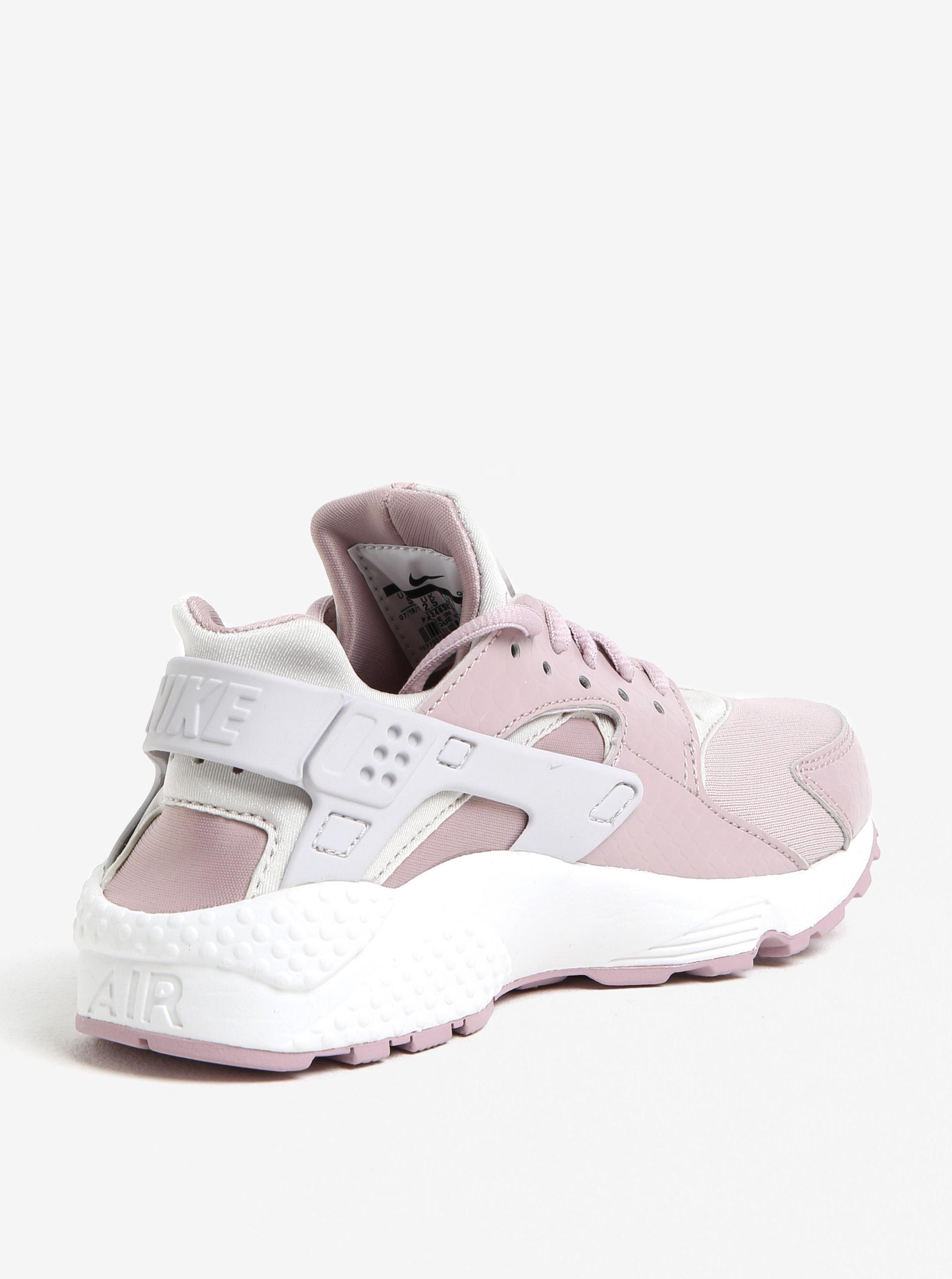 Starorůžové dámské tenisky Nike Air Huarache Run ... 949af6a1a36