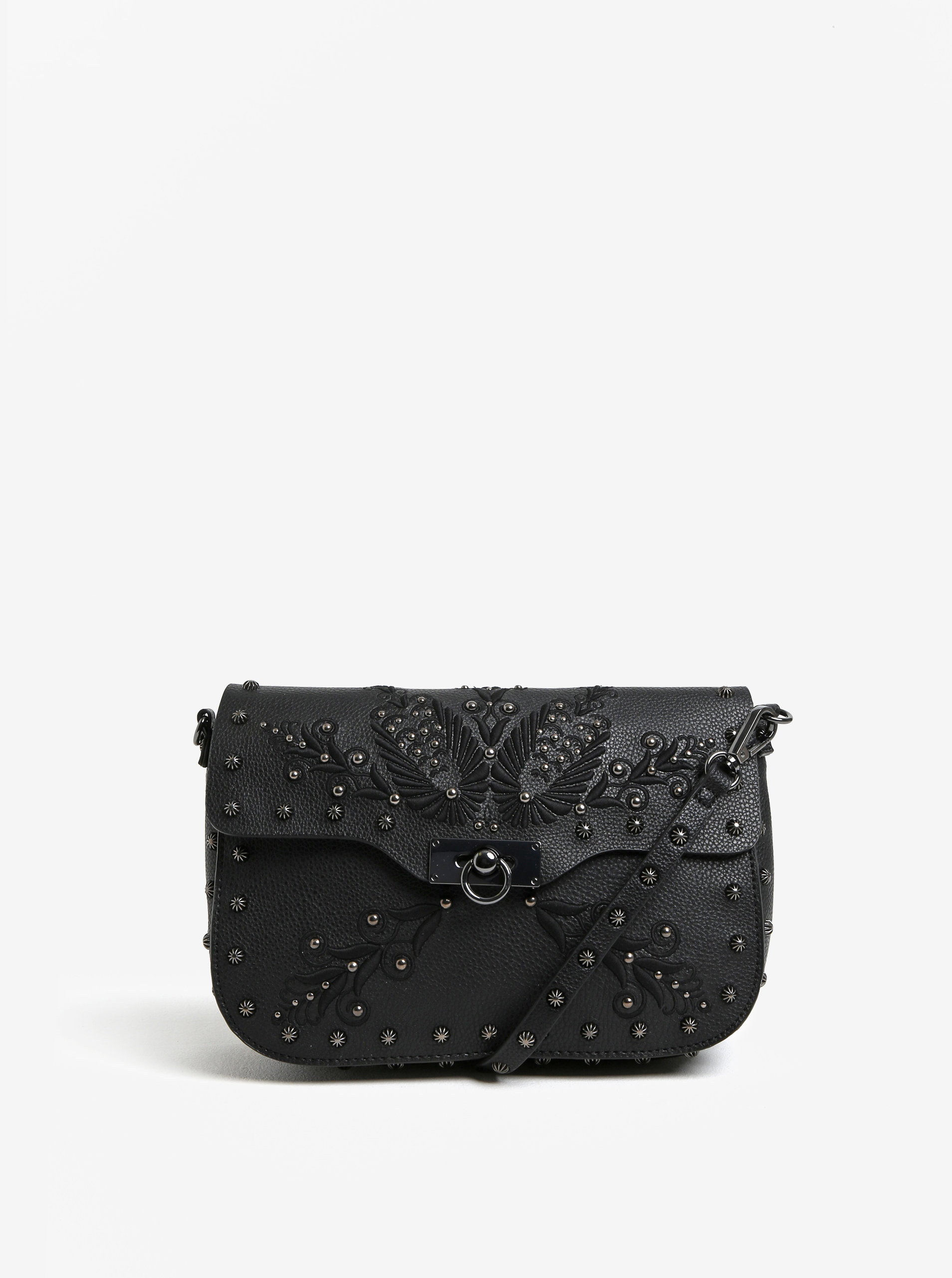 Černá crossbody kabelka s ozdobami Desigual Amorgos ... 3e1b80c0b8d