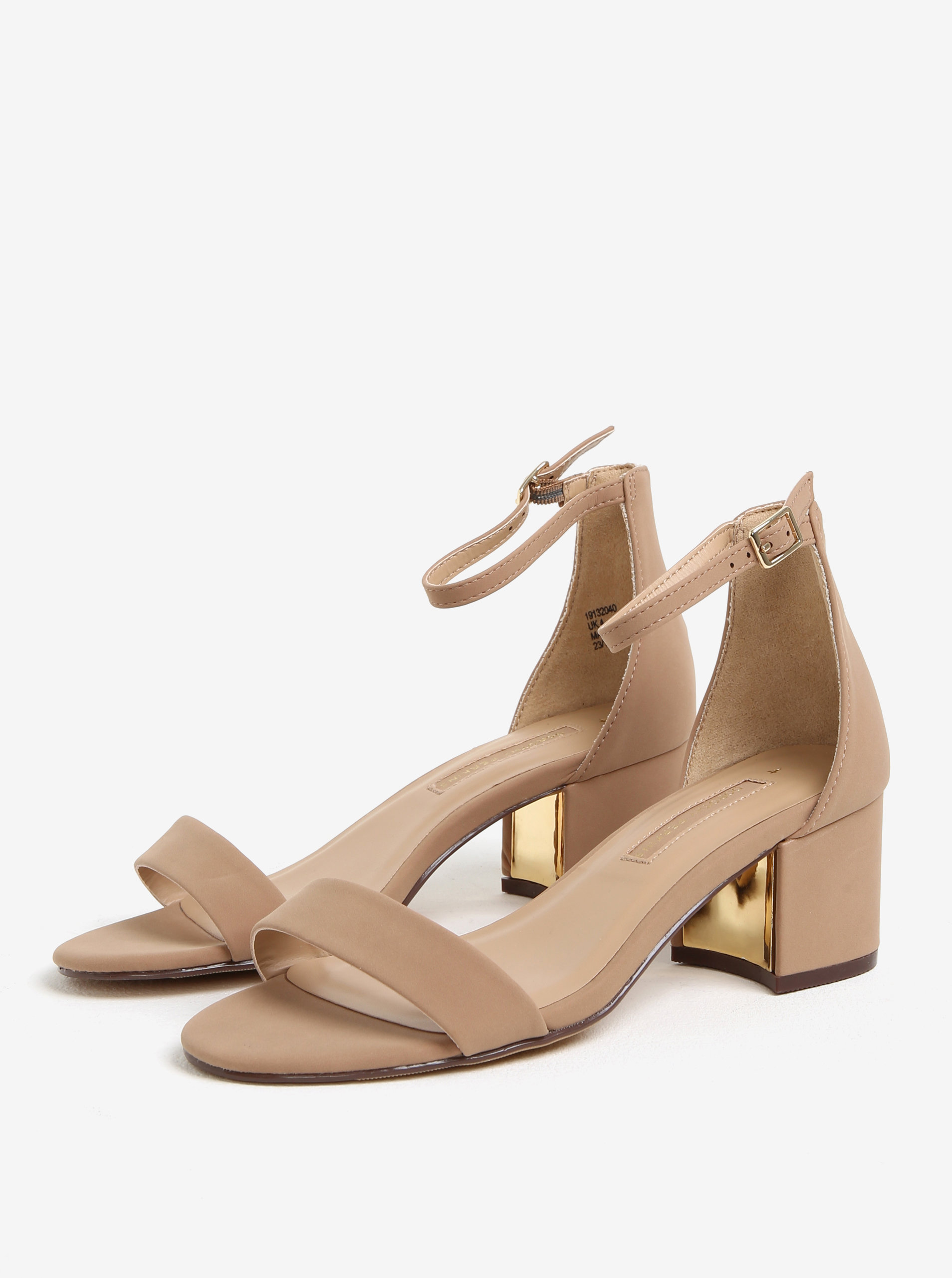 741c20851d73a Béžové sandály na podpatku Dorothy Perkins | ZOOT.cz