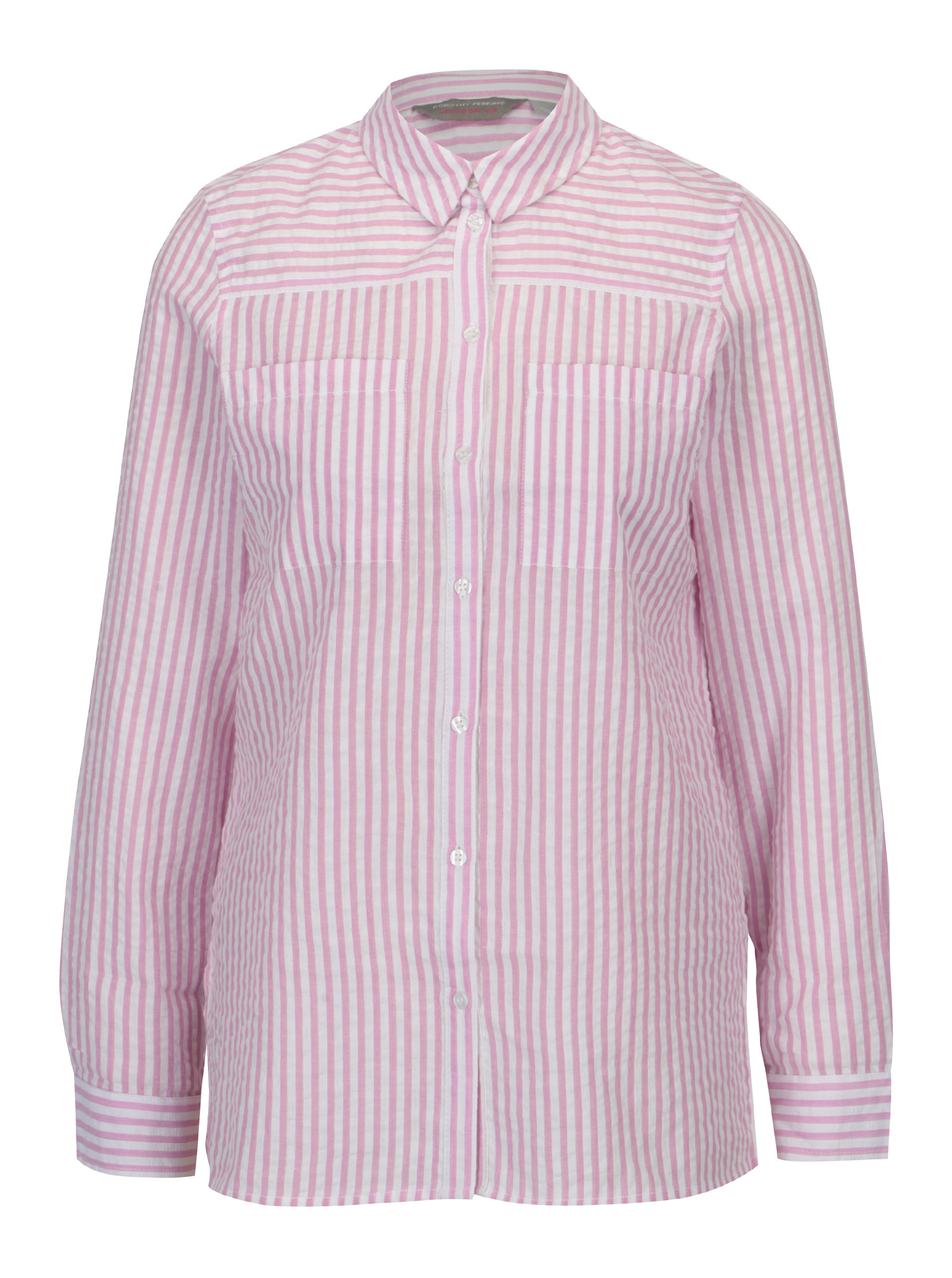 58d888697a9b Krémovo–ružová pruhovaná košeľa Dorothy Perkins Petite ...