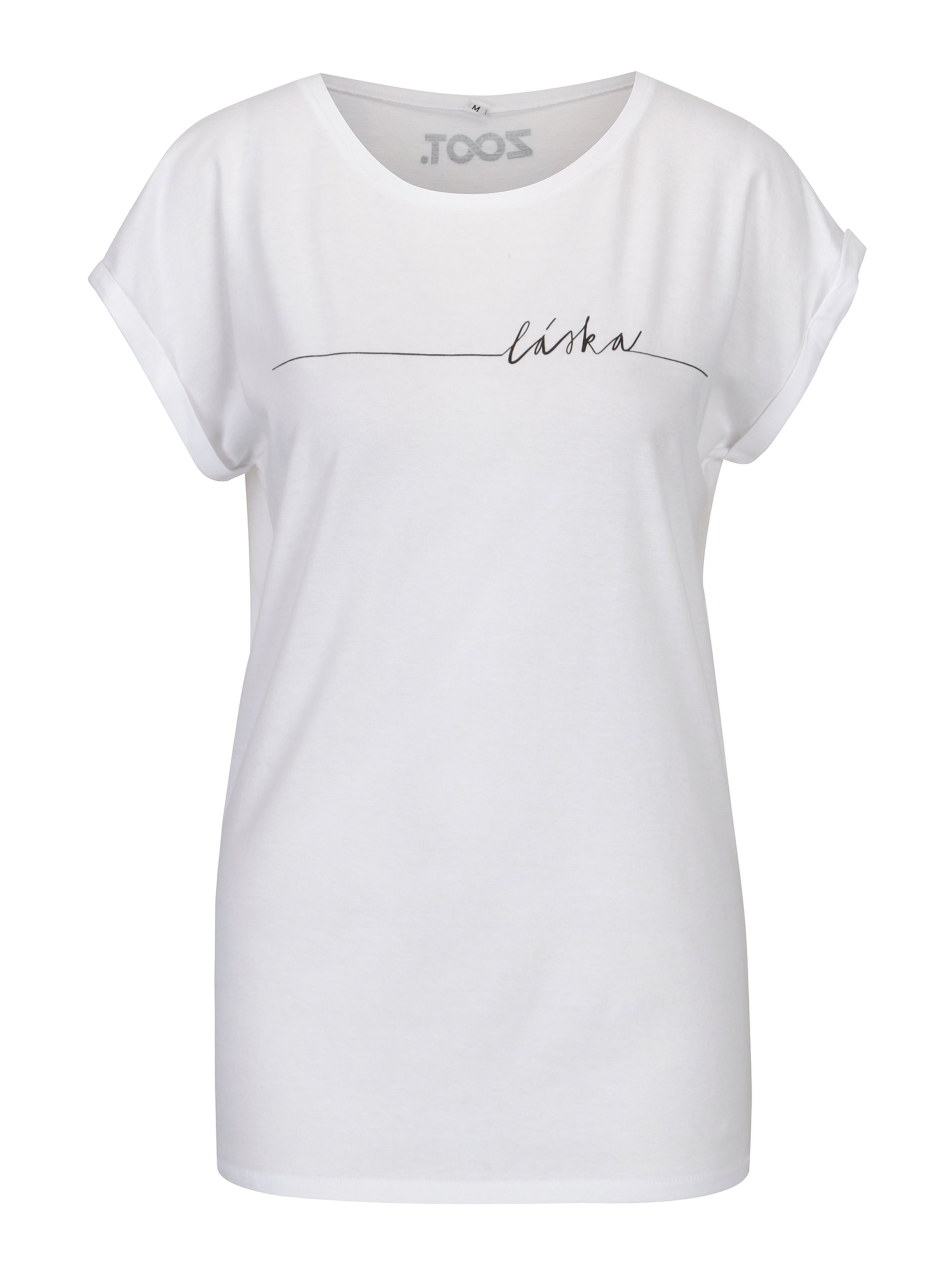 Bílé dámské tričko s potiskem ZOOT Original Láska ... e98aed6ff2