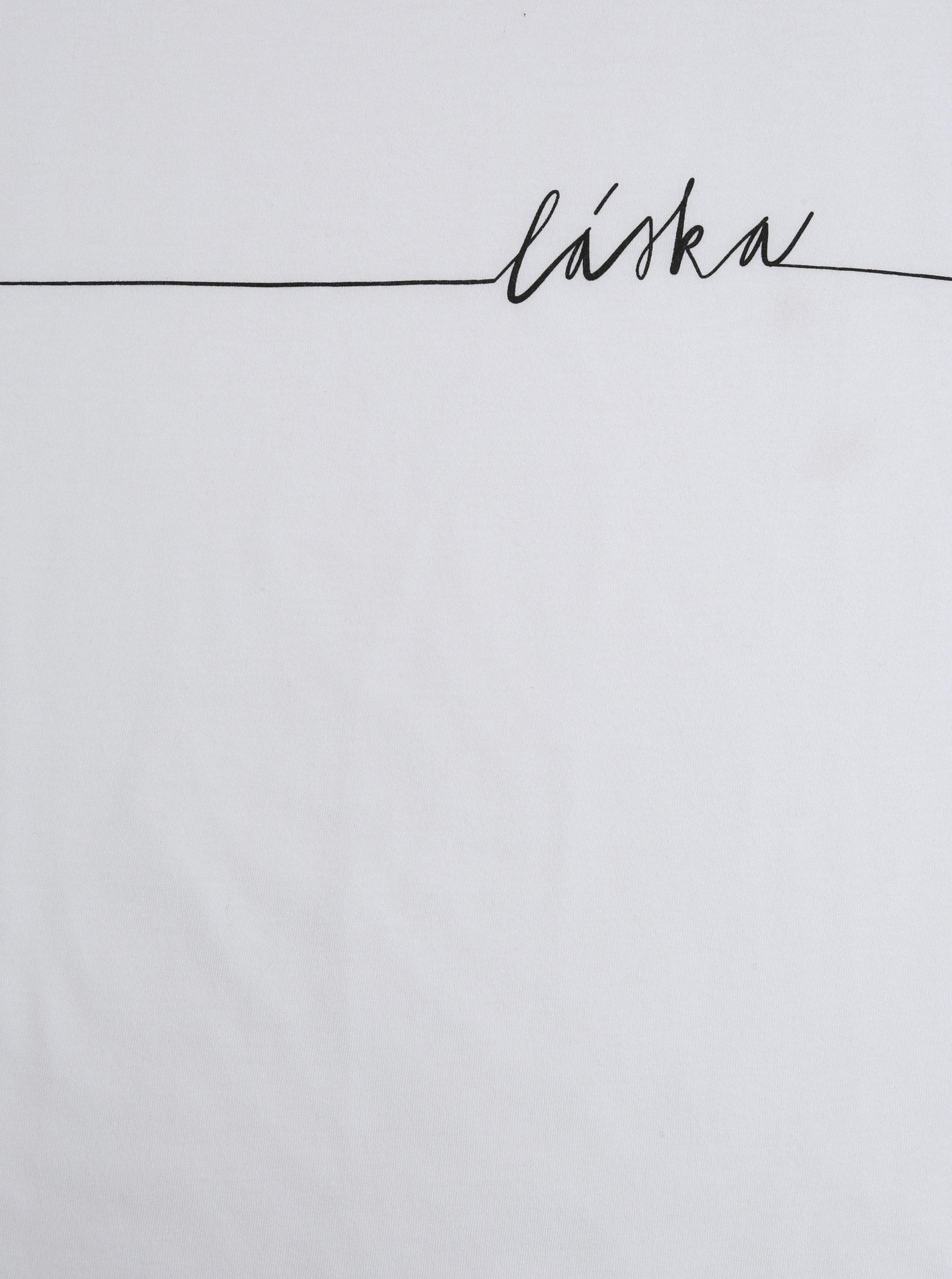 e1e2bed61ce Bílé dámské tričko s potiskem ZOOT Original Láska ...