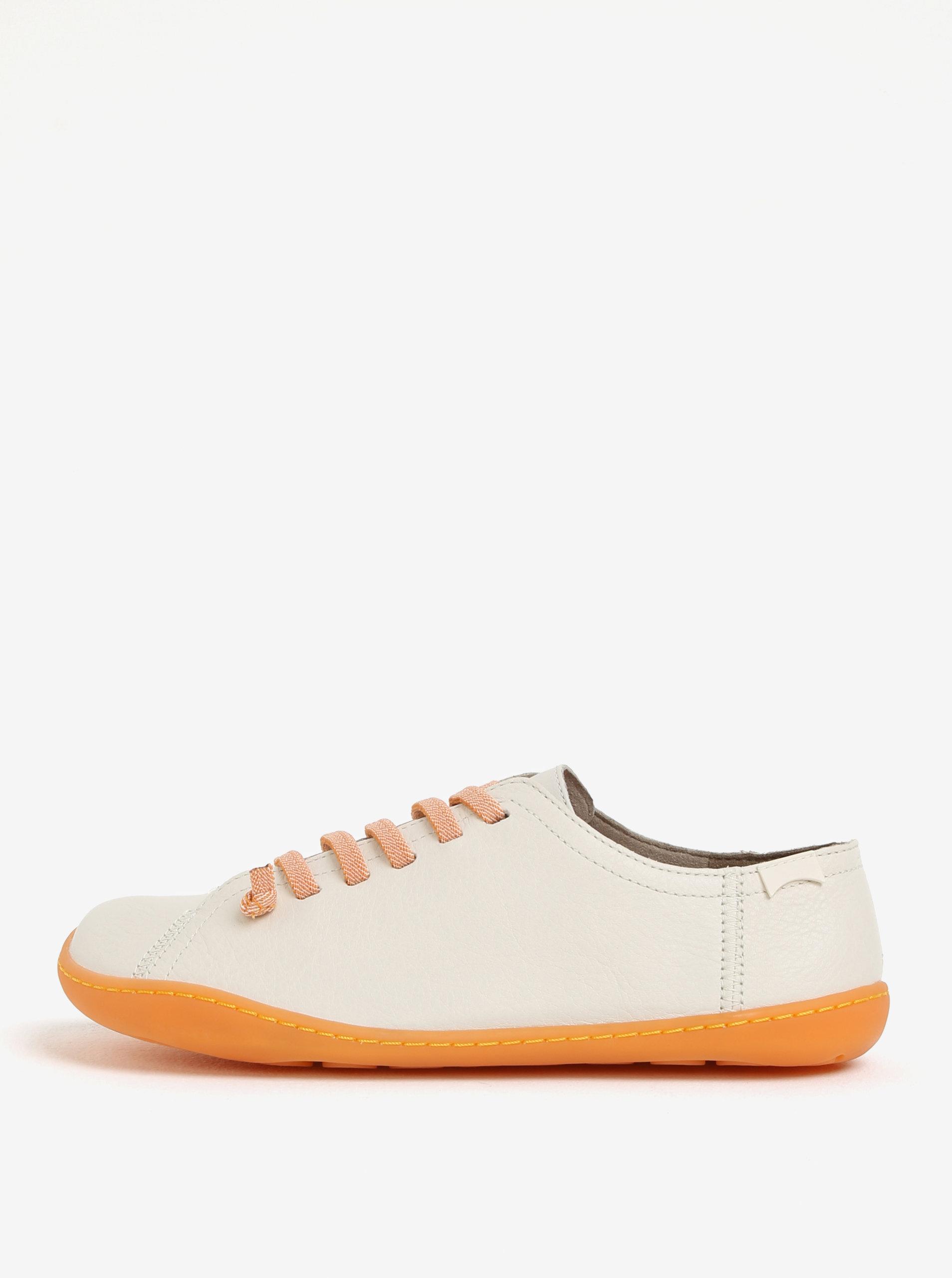 ca2294f2518 Krémové dámské kožené tenisky Camper Peu ...