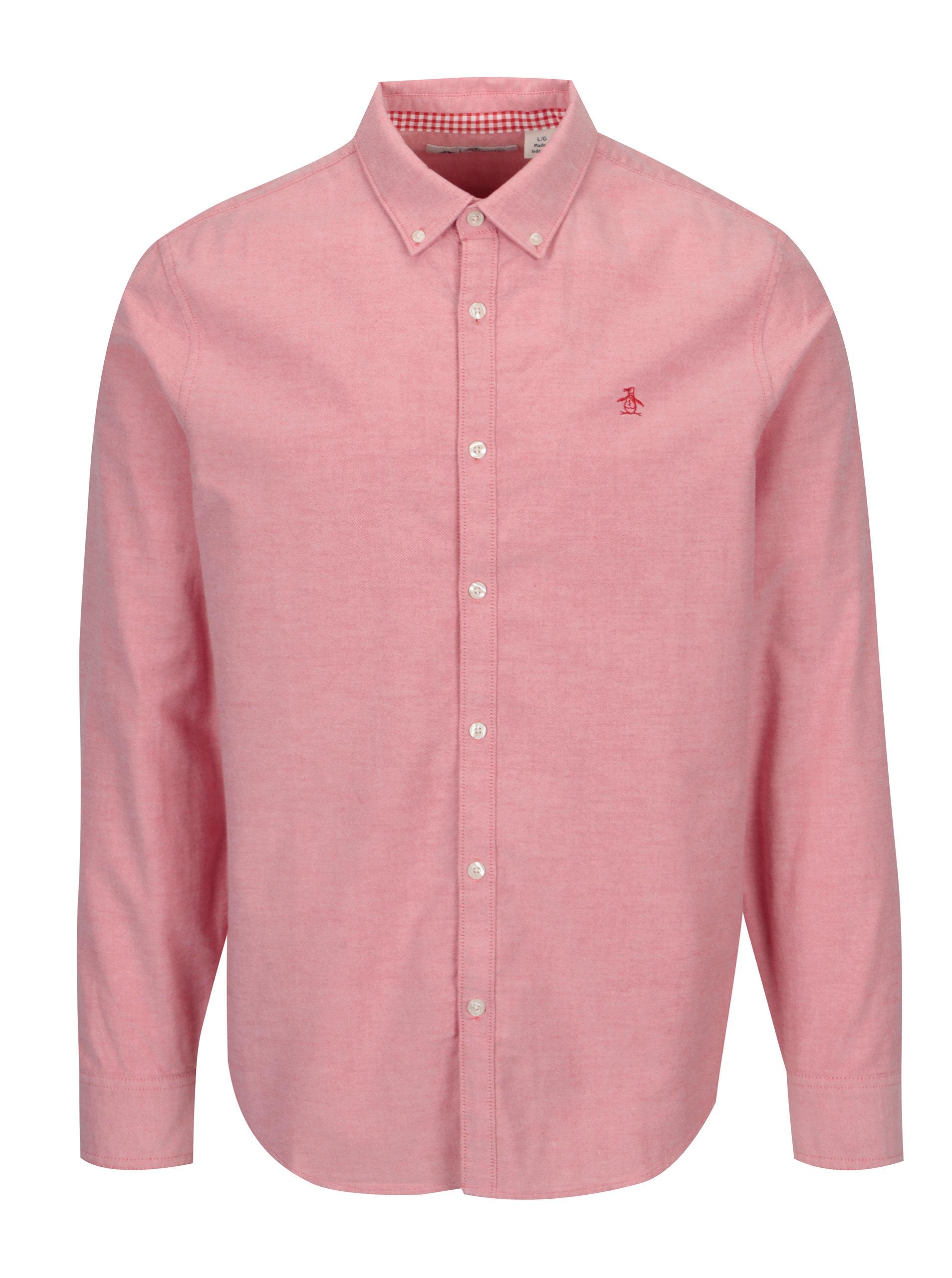 Růžová košile s dlouhým rukávem Original Penguin b4d3f134b0