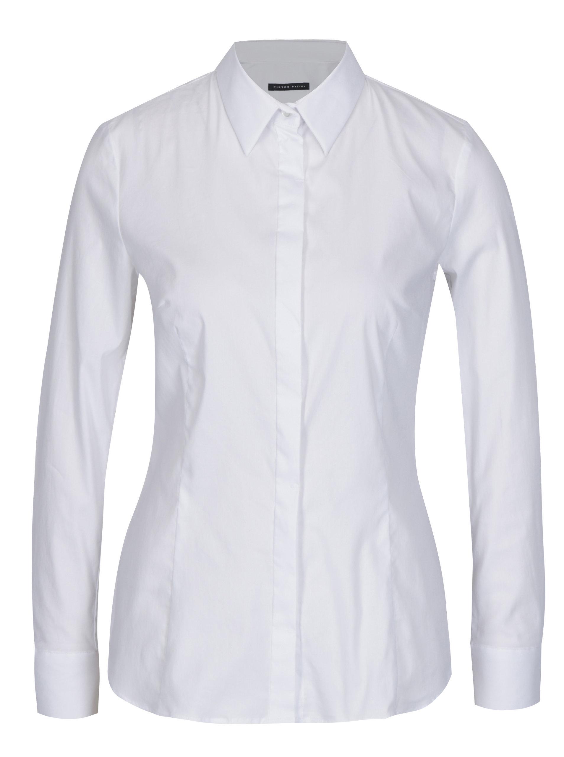 d1aefc5a1fde Biela dámska košeľa Pietro Filipi ...