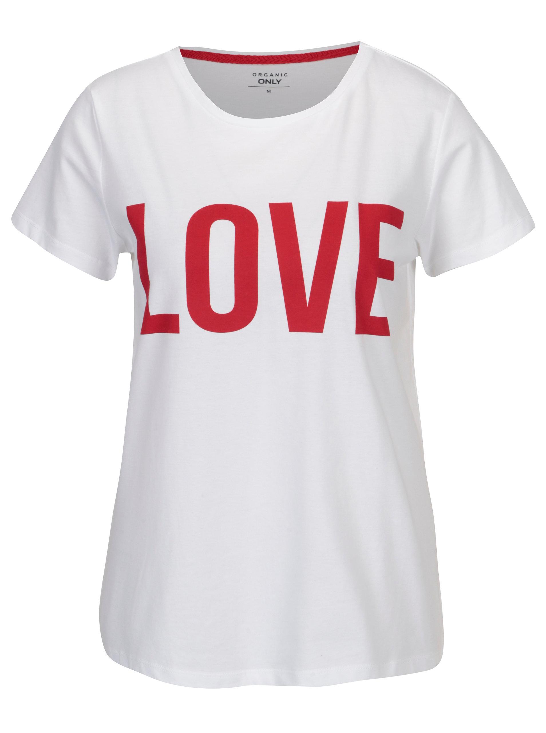 be7f119b842e Bílé tričko s potiskem ONLY RIVA Love ...