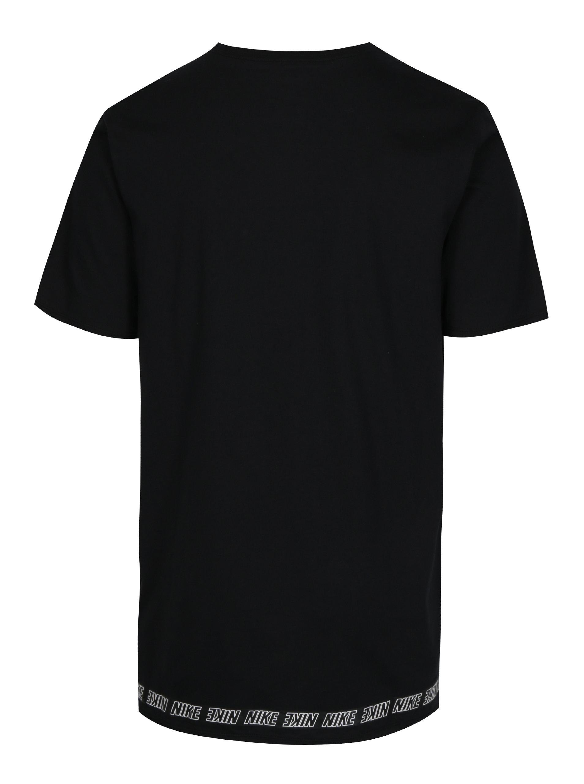 a3c5d0664446 Čierne pánske dlhé tričko s potlačou Nike ...