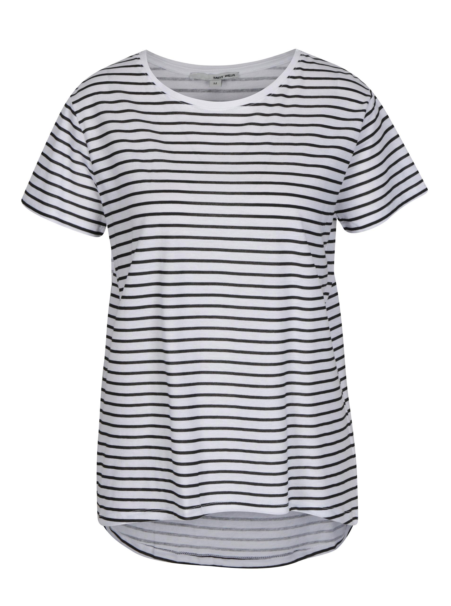 c6aa0cab2d Čierno-biele pruhované tričko TALLY WEiJL ...
