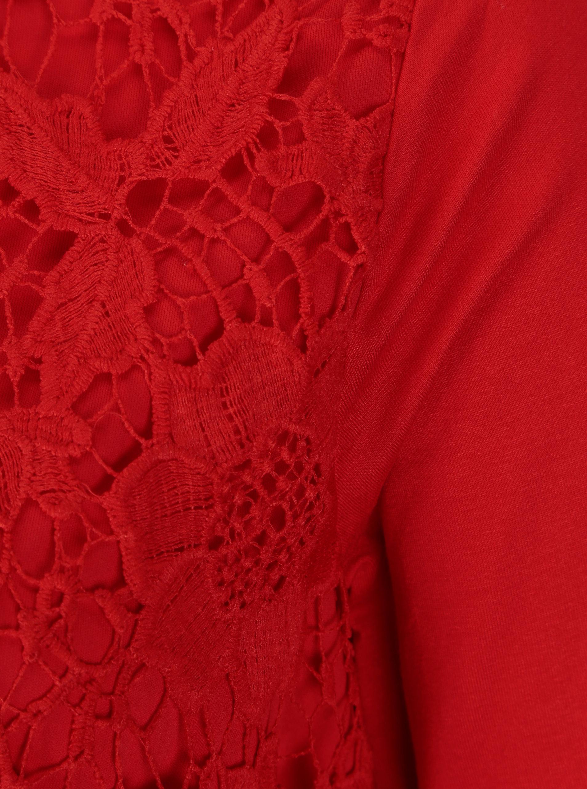 ce67e942c07c Červená dámska čipkovaná blúzka M Co ...