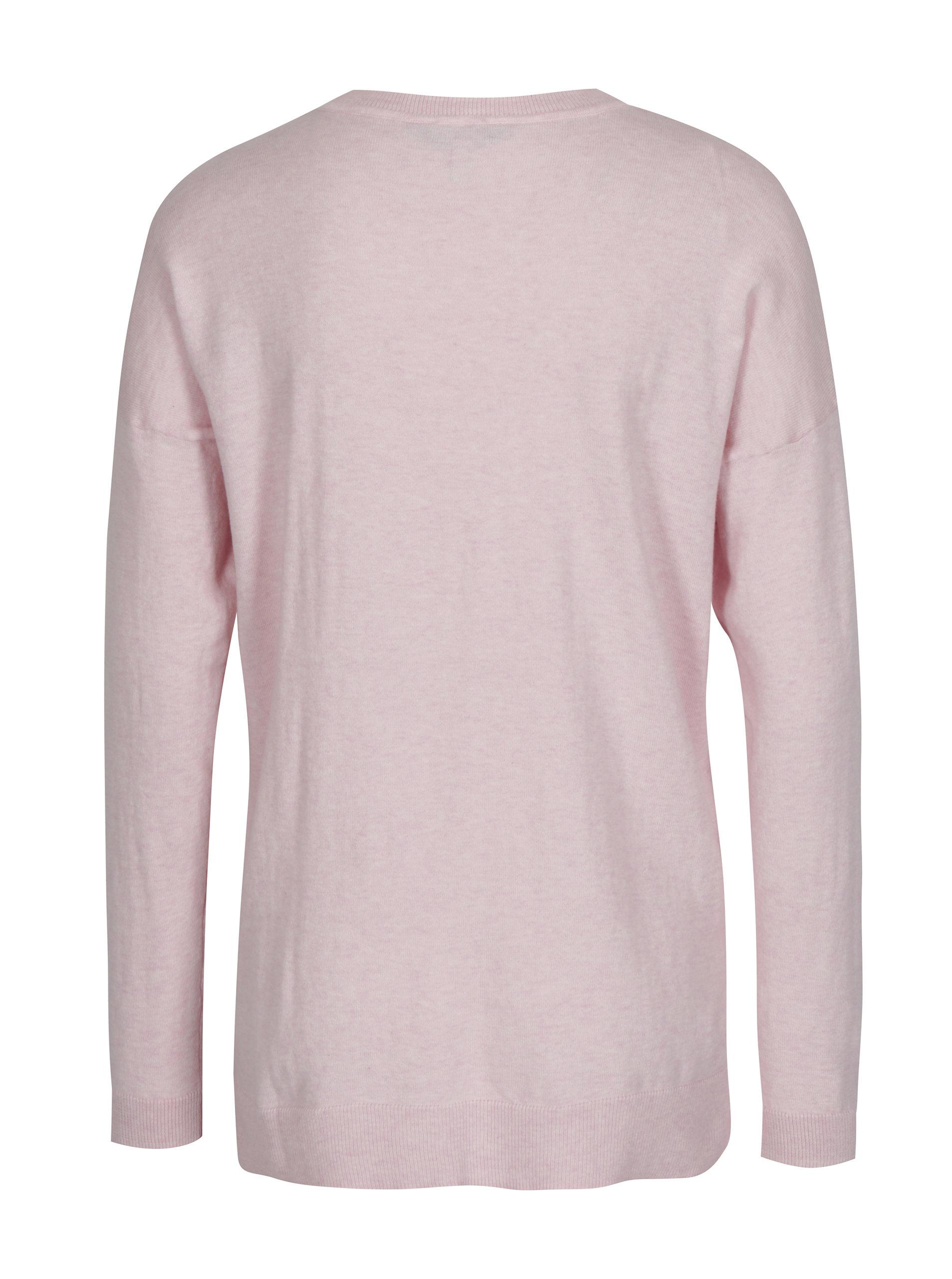 b6fa3732219c Svetloružový dámsky sveter s rozparkom na boku Tom Joule Sally ...