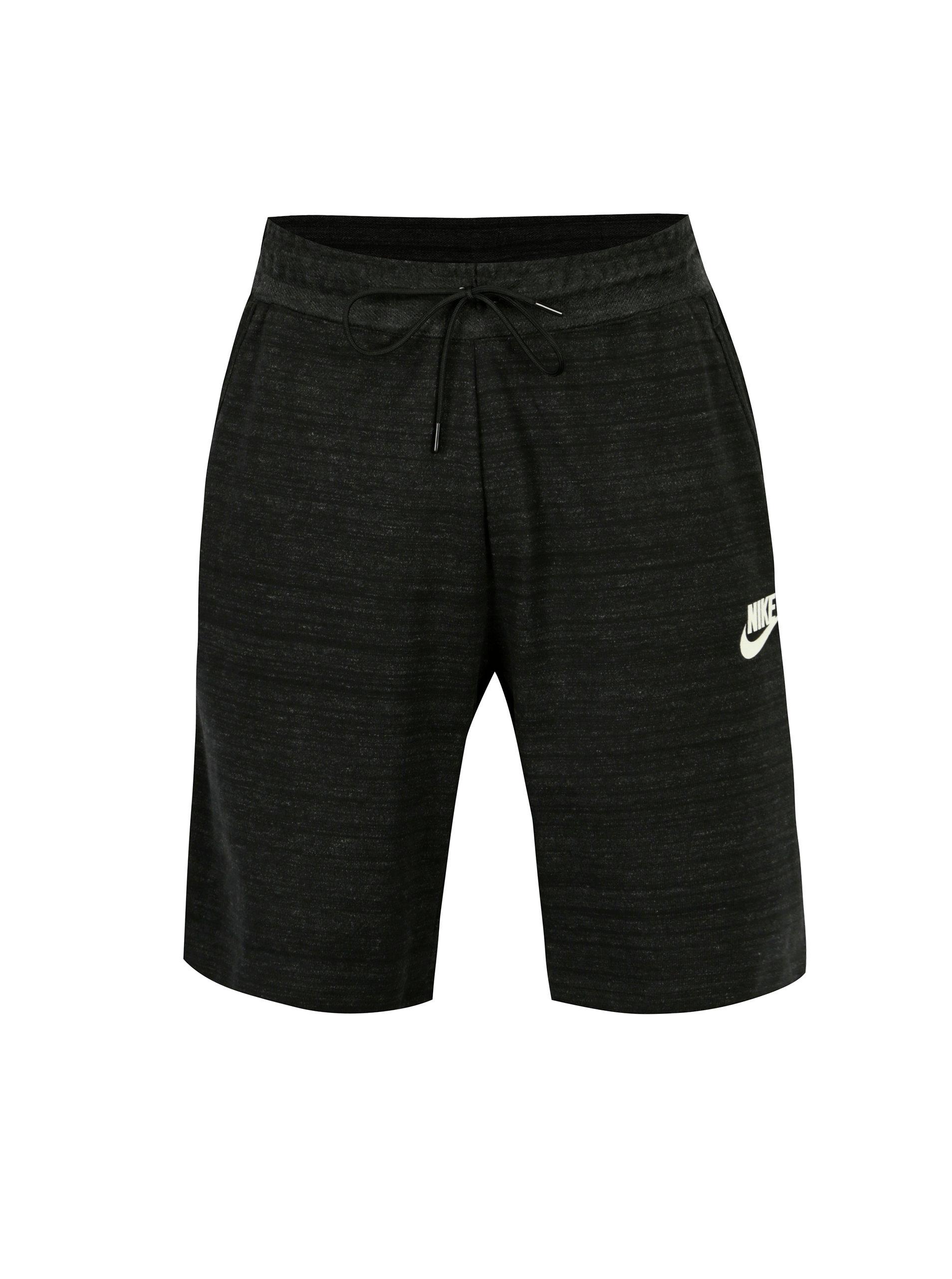 15f29de5e8a Tmavě šedé žíhané pánské standart fit kraťasy Nike ...