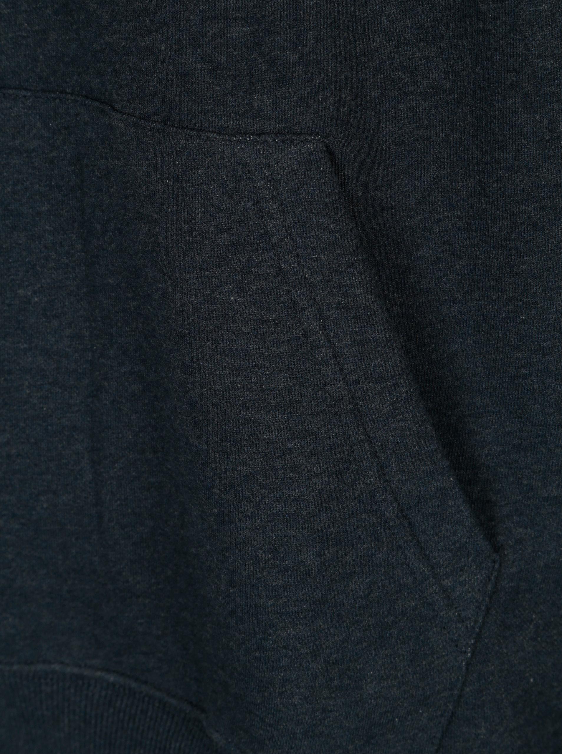 Tmavě modrá žíhaná pánská mikina s potiskem Quiksilver ... 0cae25fbaaf