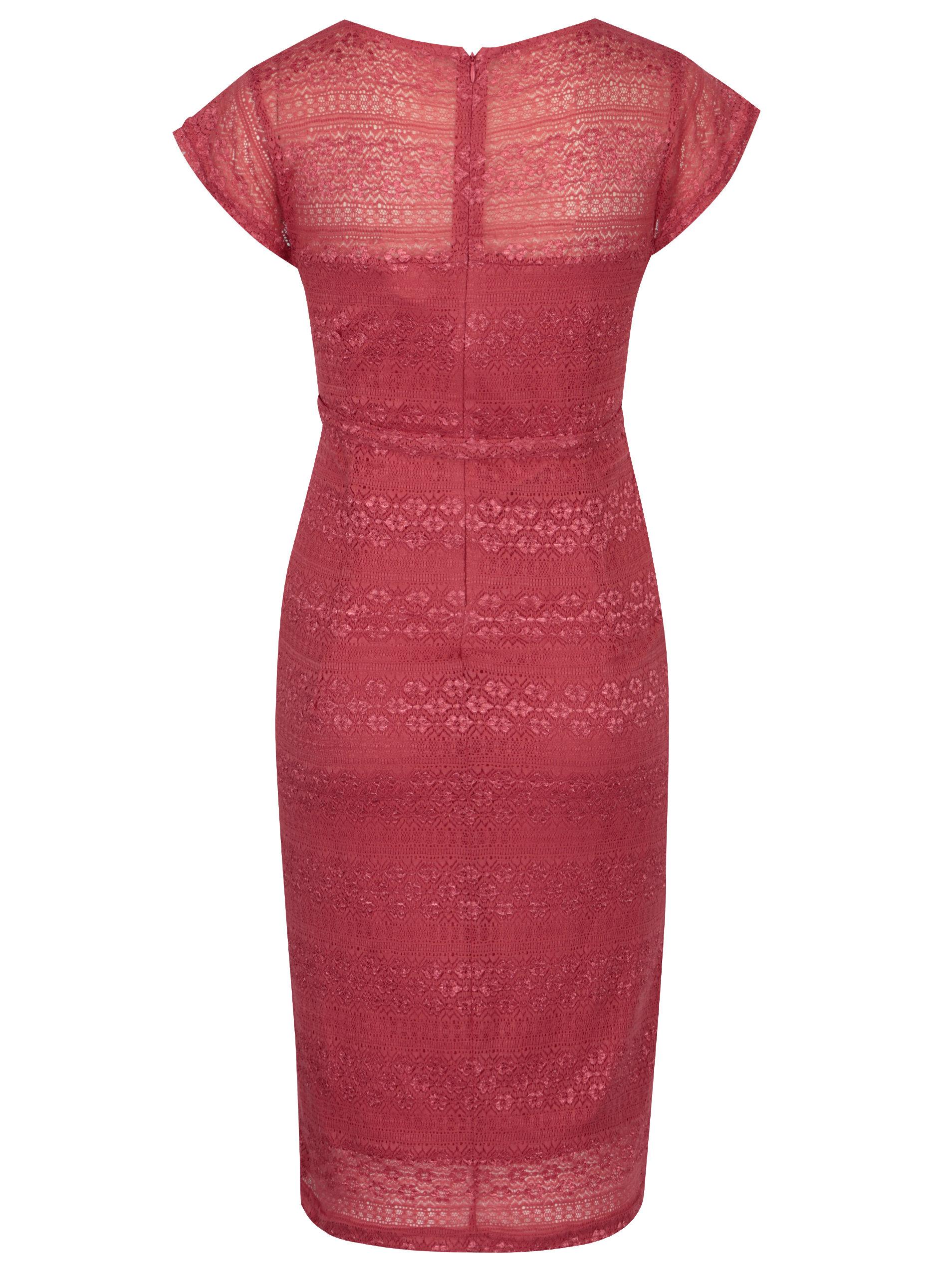 518fbbd7094c Ružové čipkované tehotenské šaty Mama-licious Cabrini ...