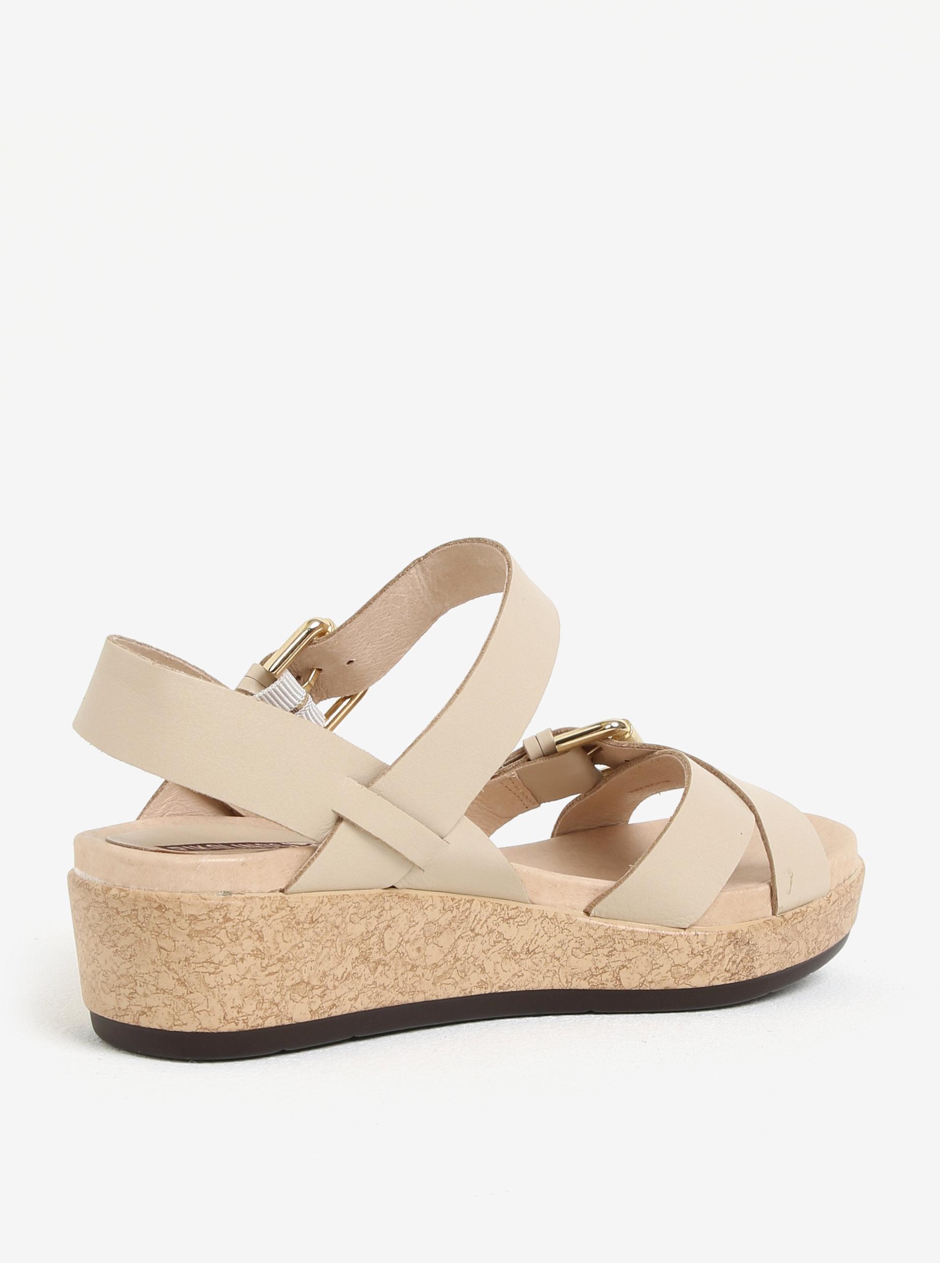 036799ec3d97 Béžové kožené sandály na platformě Pikolinos Mykonos ...