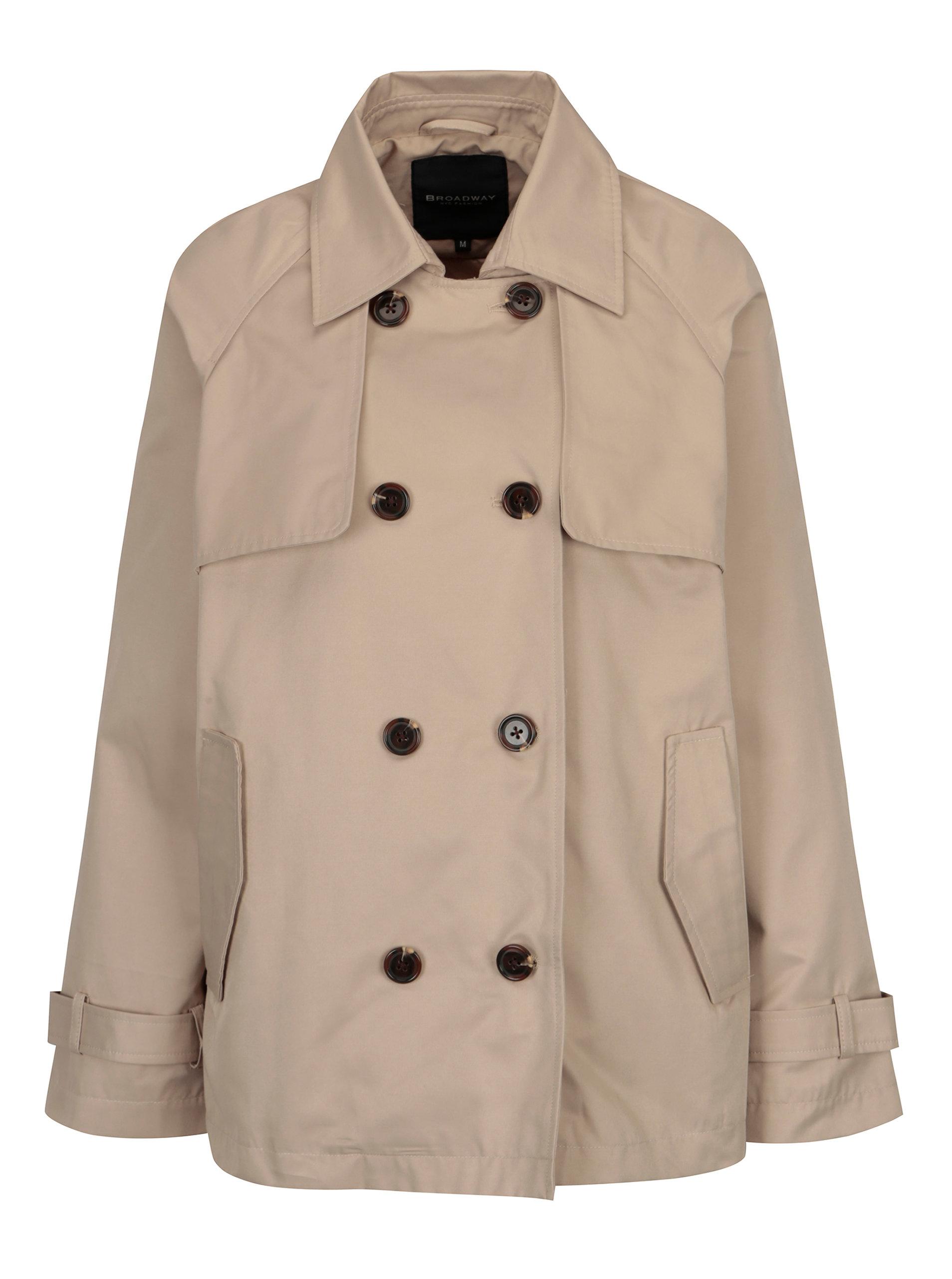 b57a52aaa0 Béžový dámsky krátky kabát Broadway Breena ...