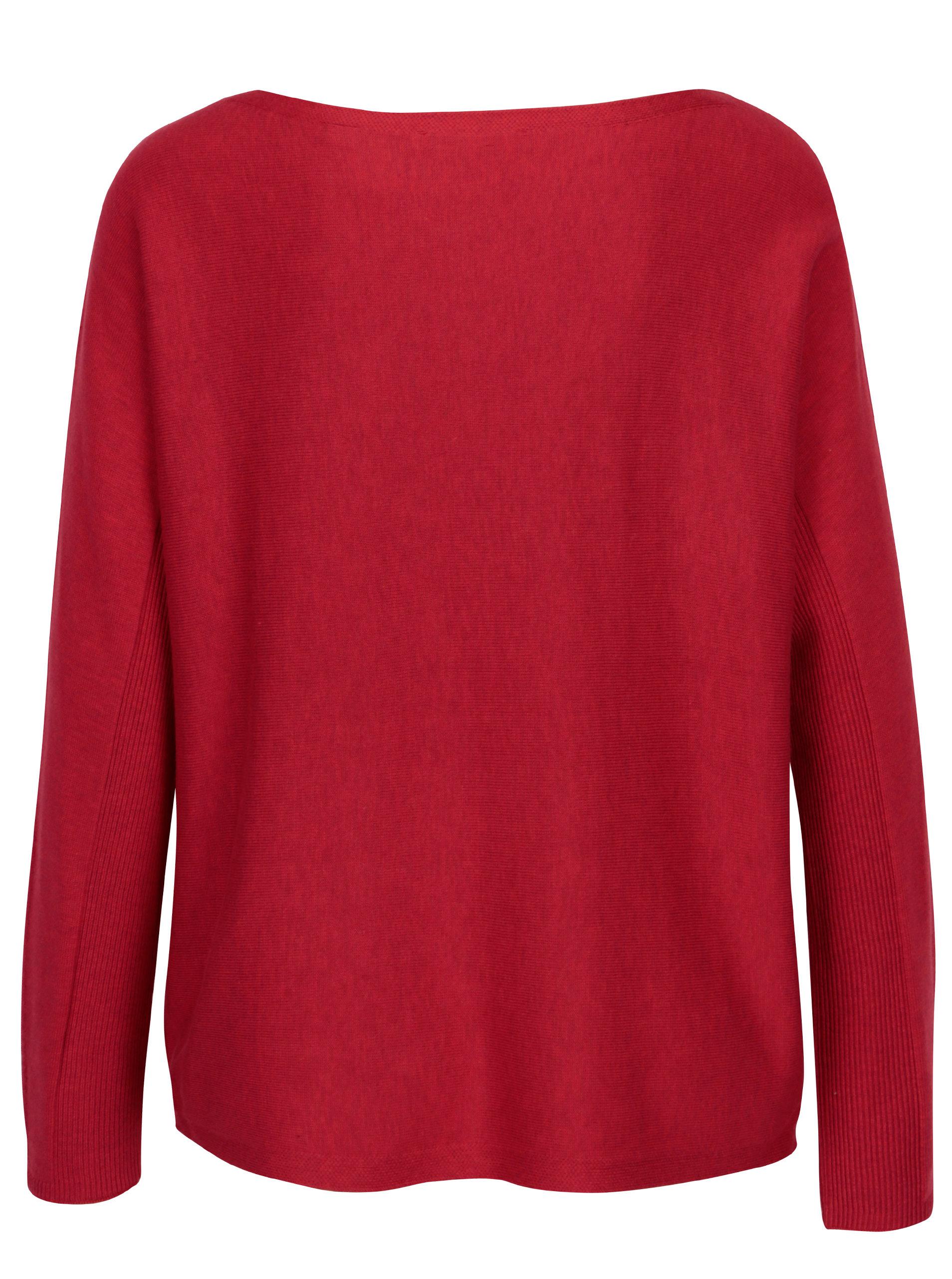 7f931f042c2 Červený dámský lehký oversize svetr s.Oliver