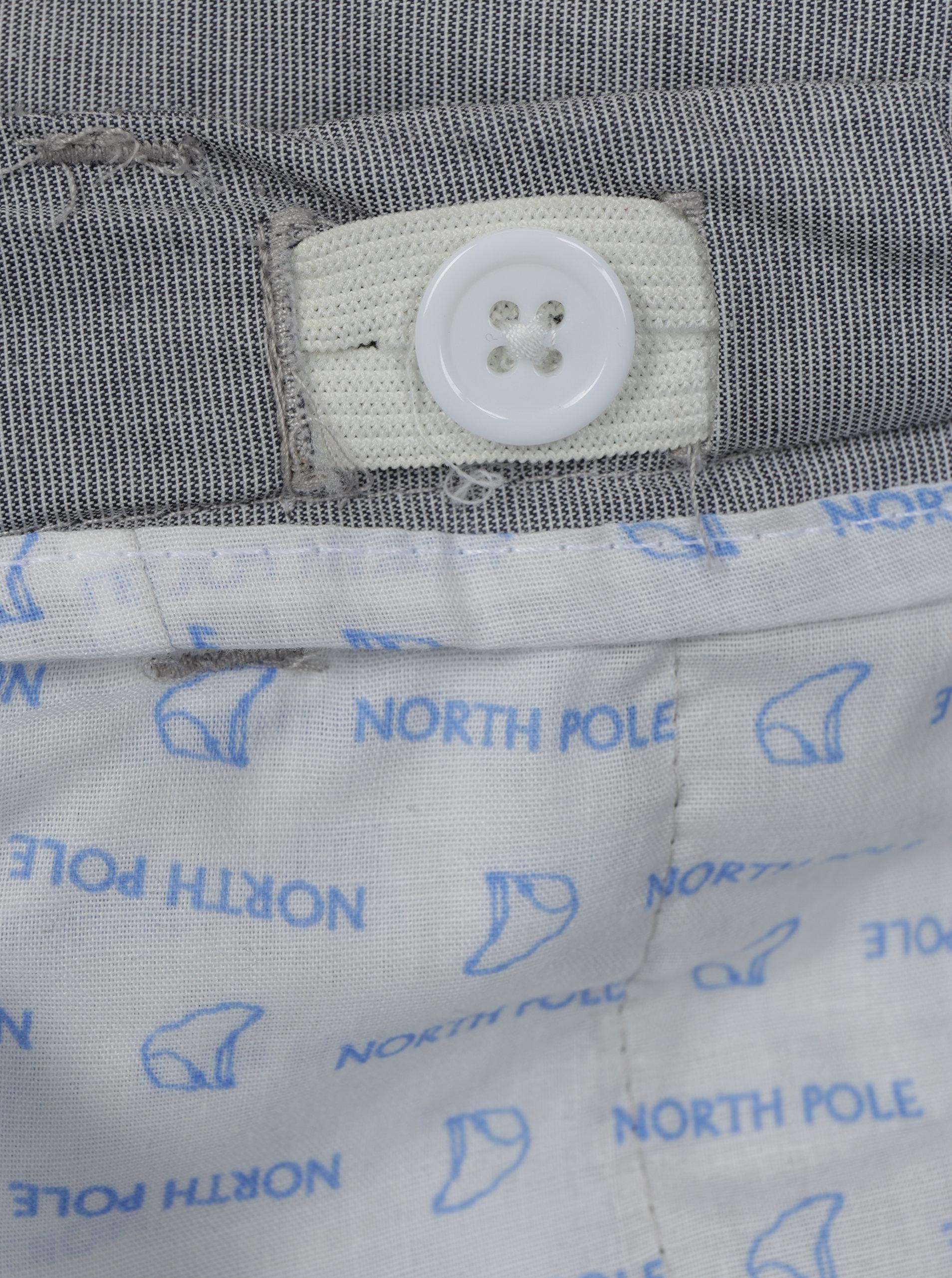 2137699f4b43 Sivé chlapčenské nohavice s vreckami North Pole Kids ...