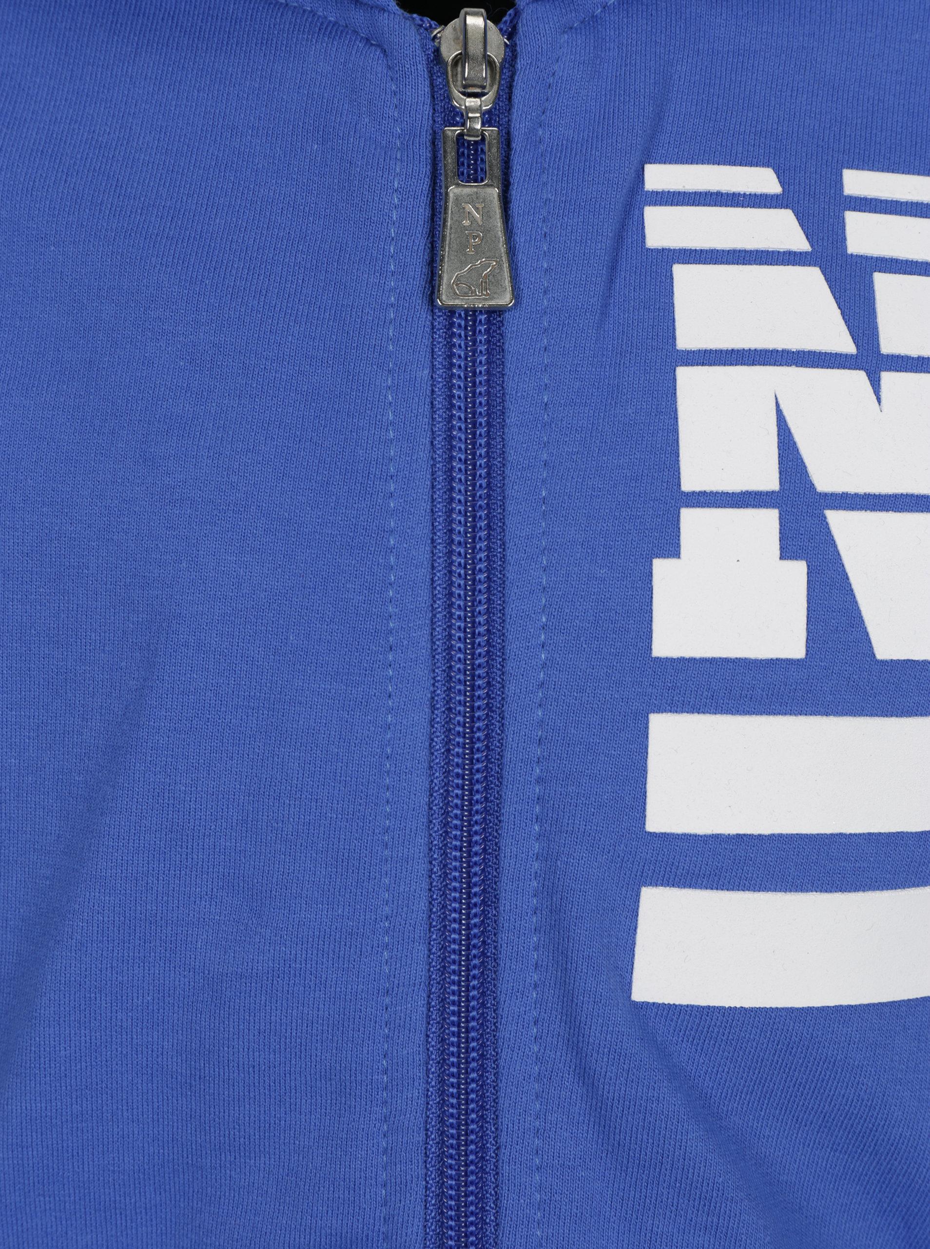 Modrá klučičí mikina s potiskem a kapucí North Pole Kids ... 1a44961aac