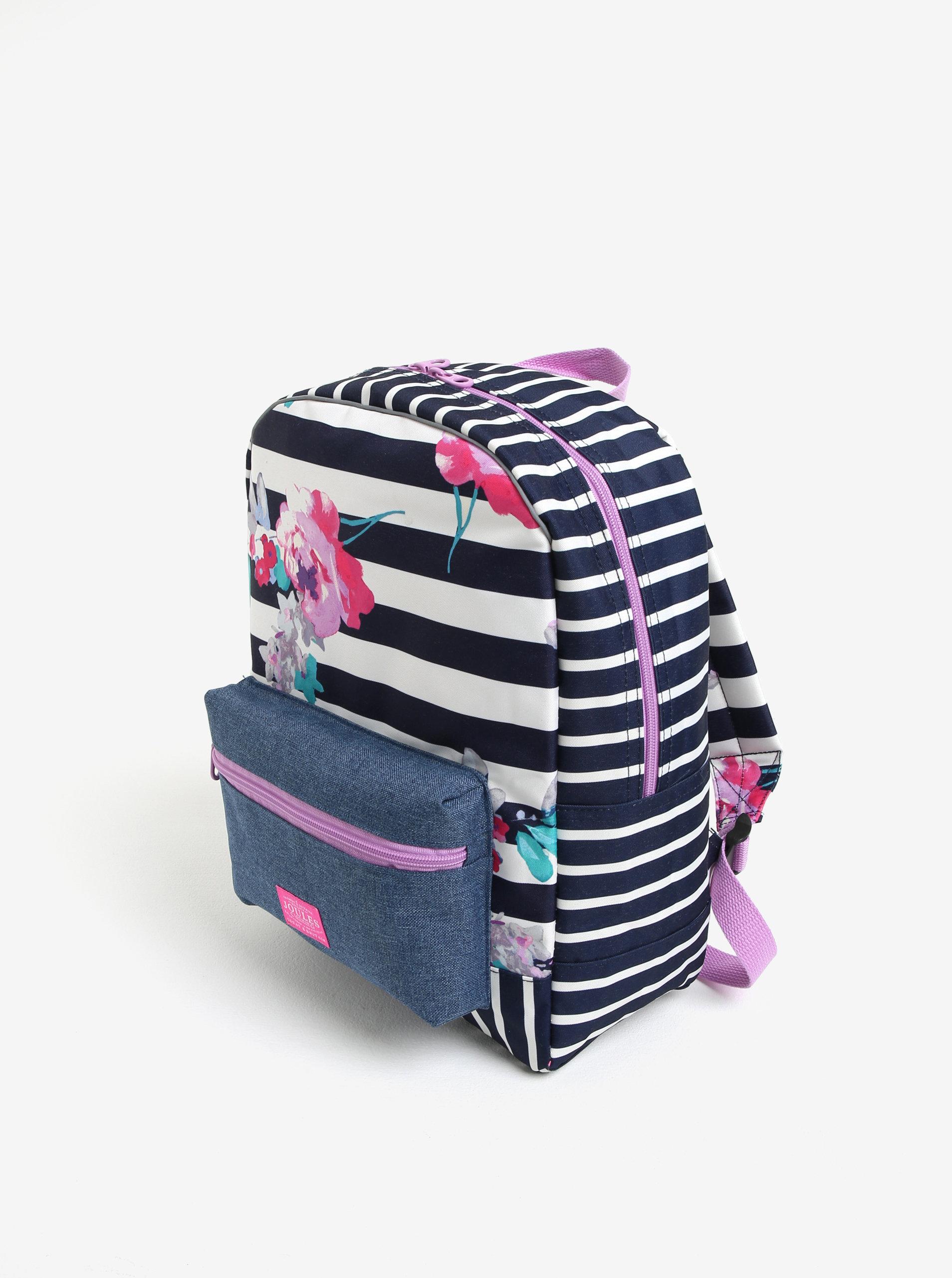 Modro-bílý holčičí pruhovaný batoh s potiskem Tom Joule ... 7dc1c1f8bb