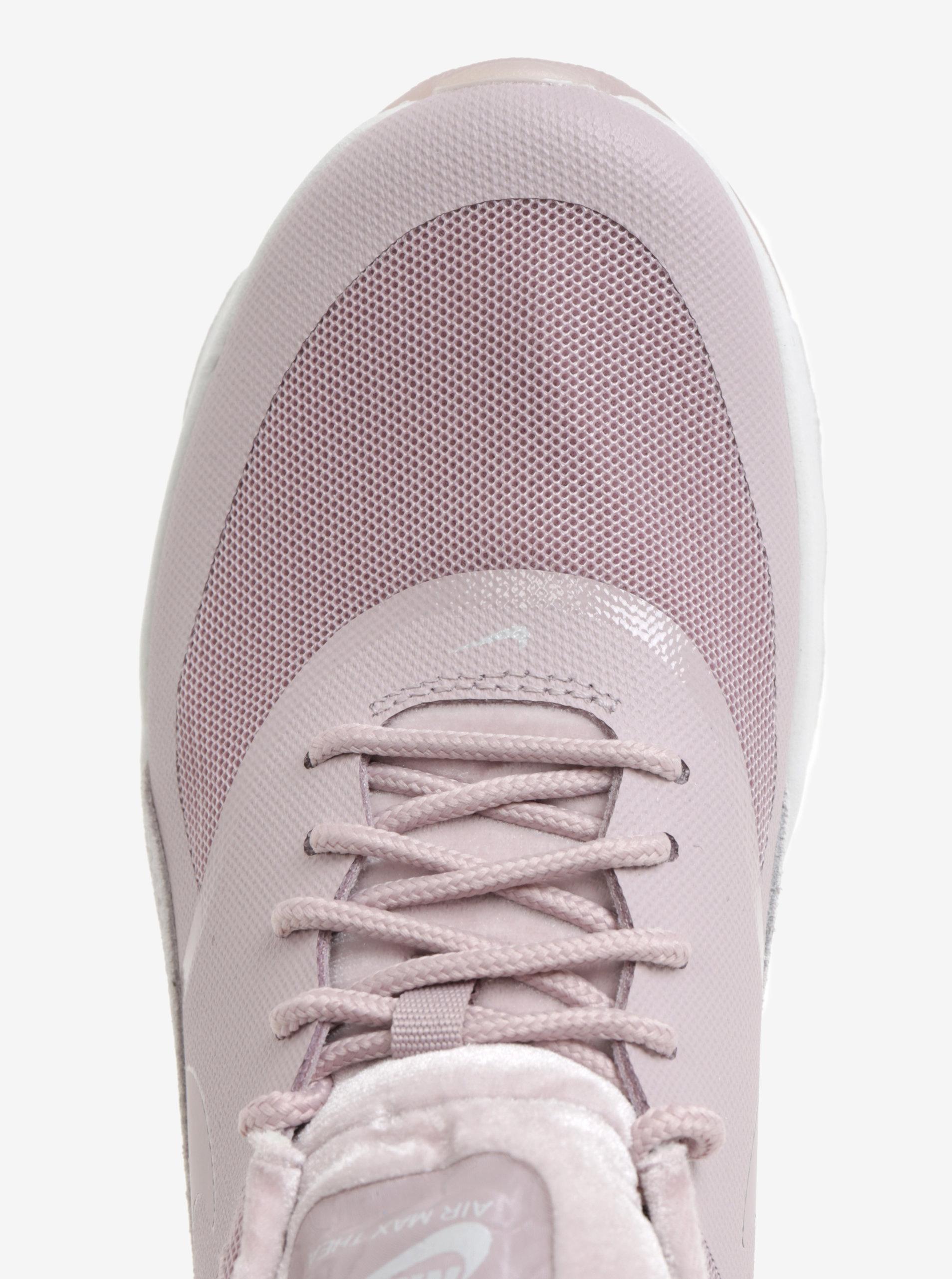 8ea78b23266 Světle růžové dámské tenisky se semišovými detaily Nike Air Max Thea ...