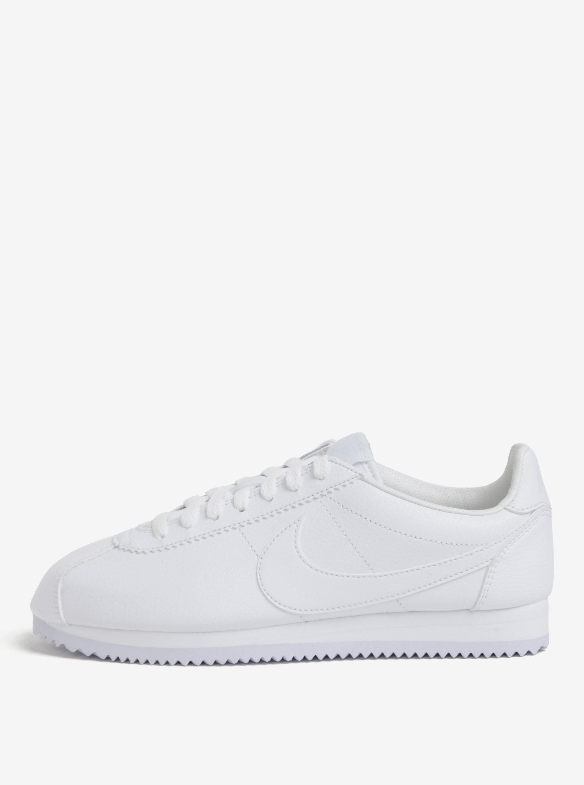 Bílé pánské kožené tenisky Nike Classic Cortez ... 254f606e76e